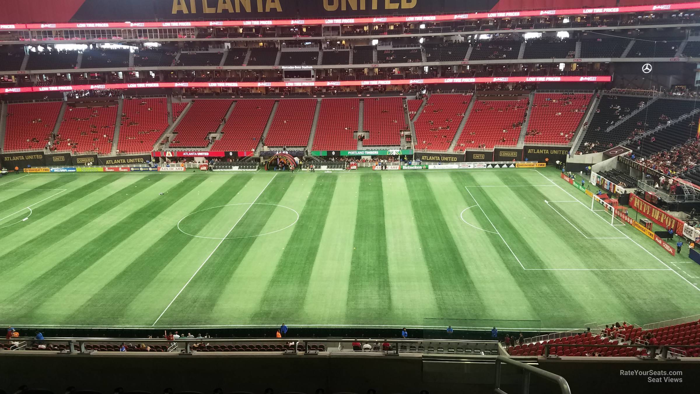Soccer Seat View for Mercedes-Benz Stadium Section 209, Row 9