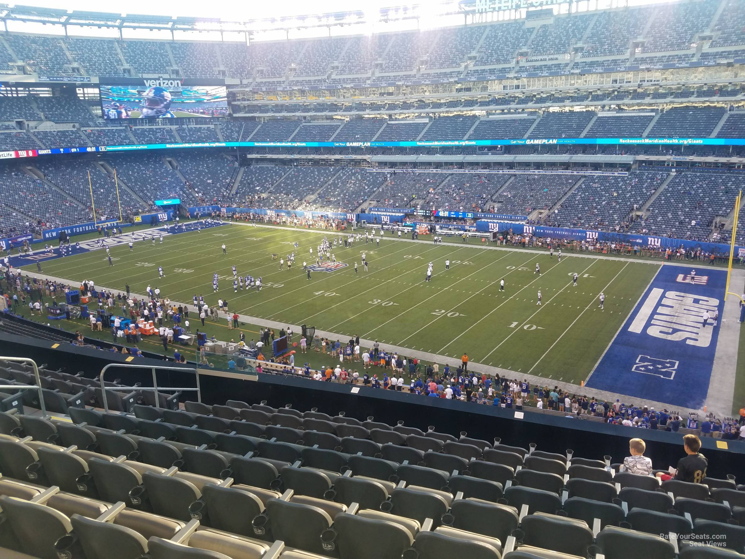 Seat View for MetLife Stadium Section 209, Row 10