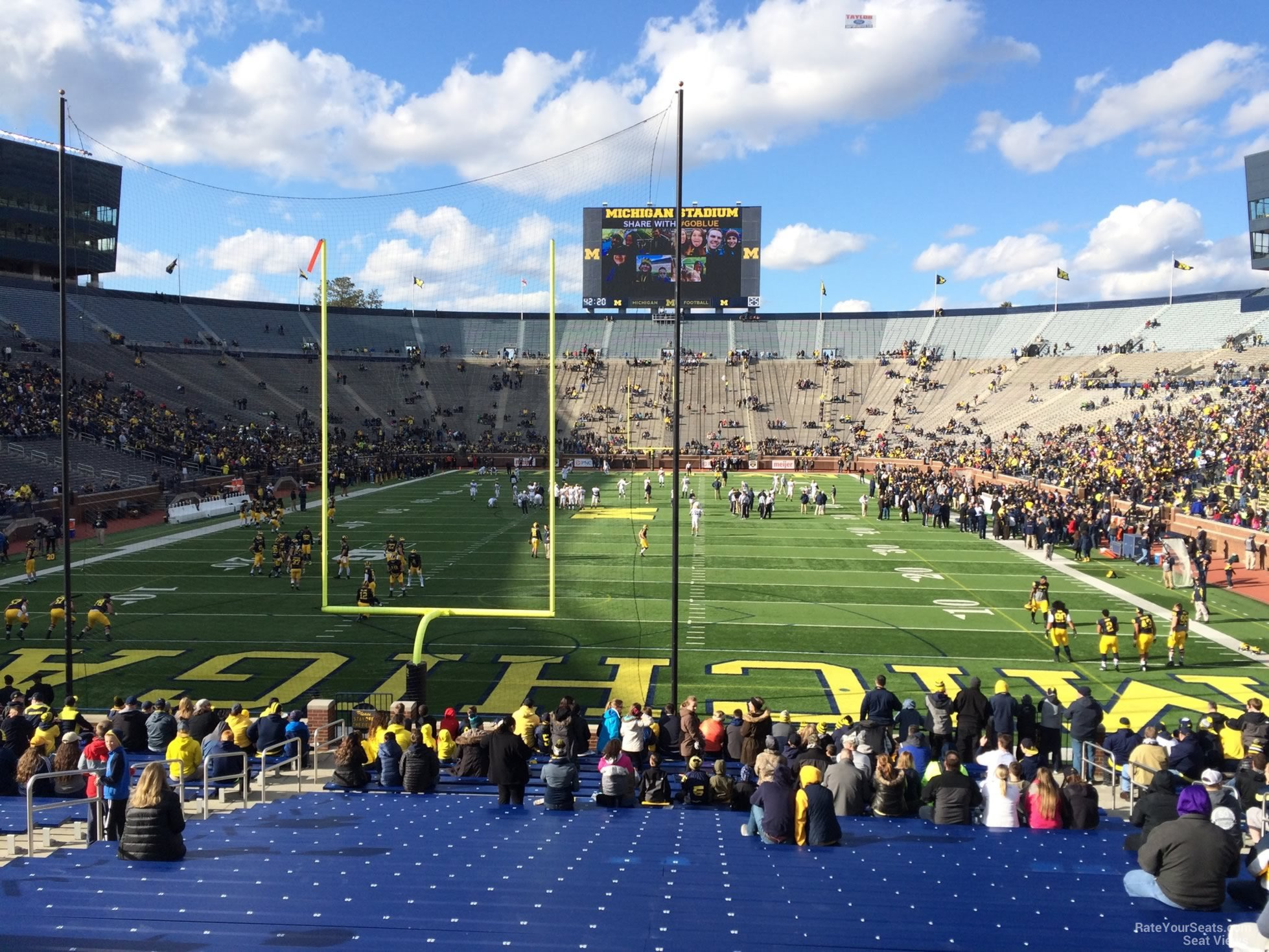 Seat View for Michigan Stadium Section 12R, Row 30, Seat 25