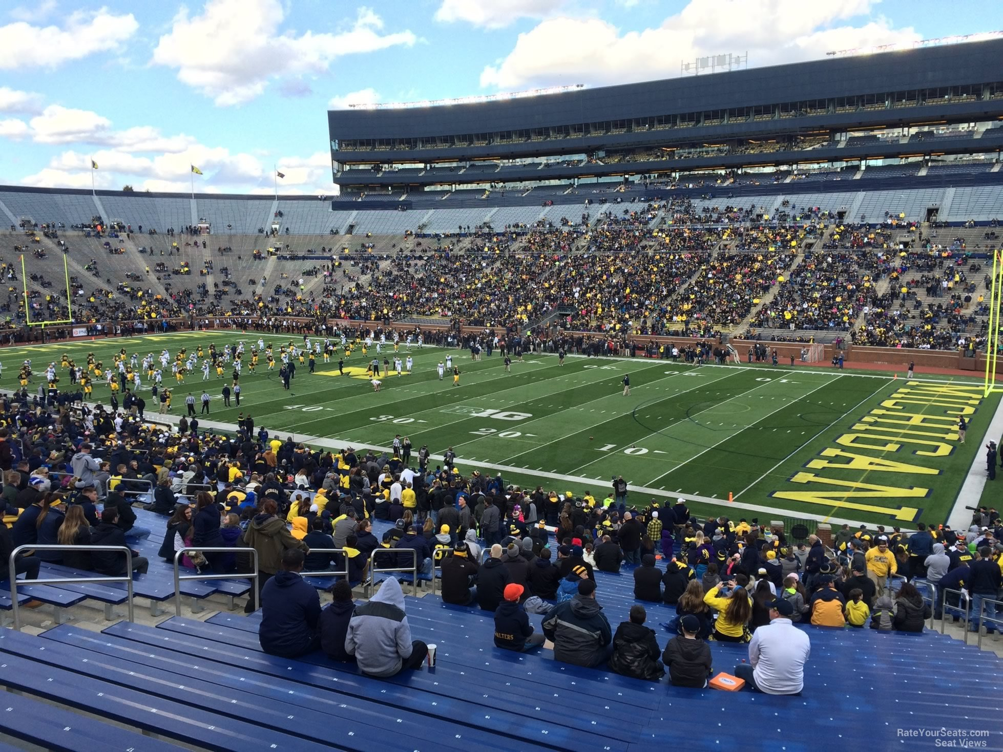 Seat View for Michigan Stadium Section 19, Row 50
