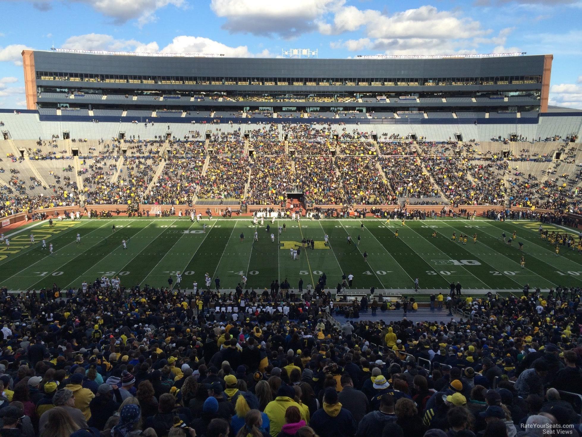 Michigan Stadium Section 23 Rateyourseats Com