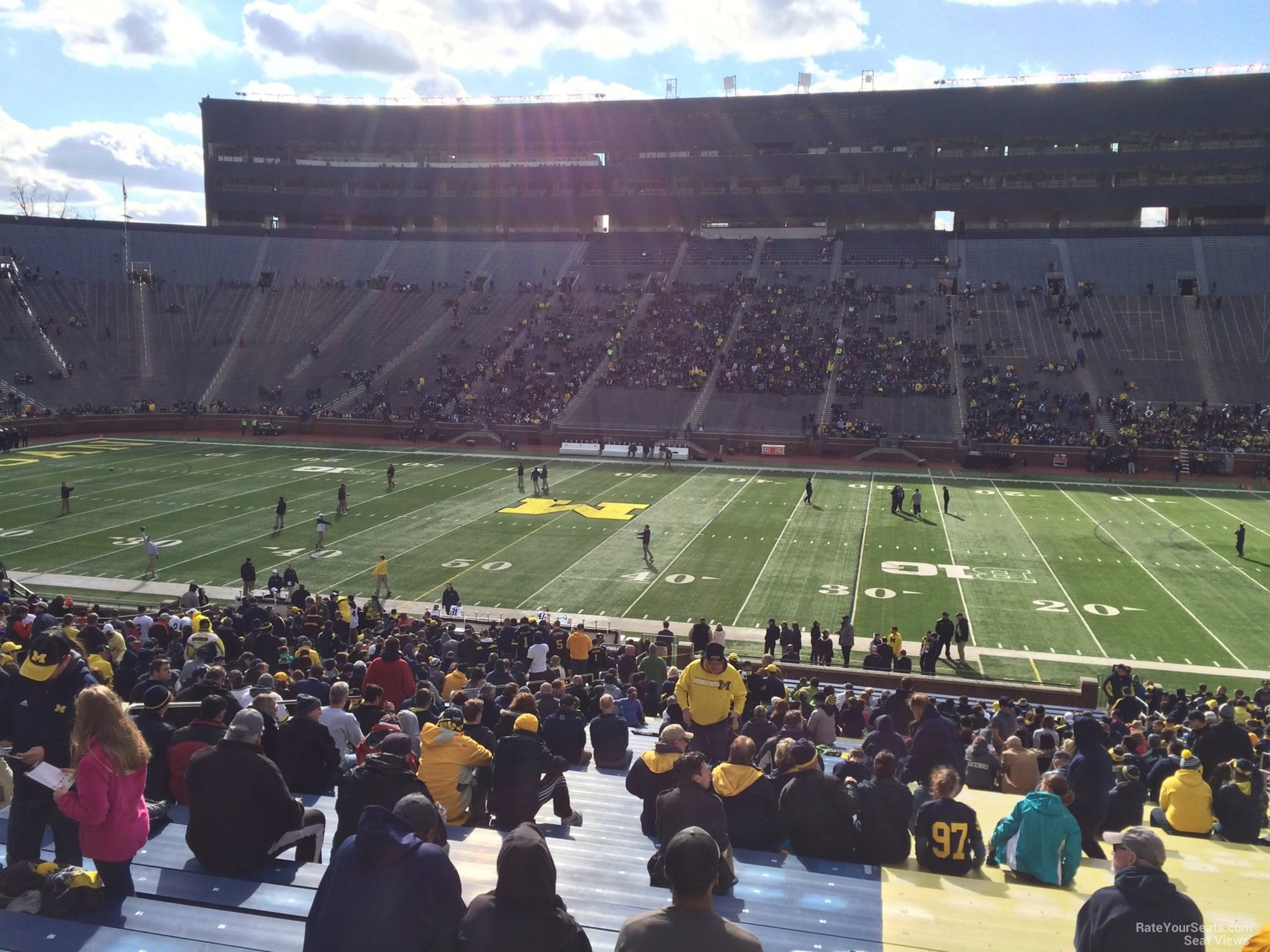 Seat View for Michigan Stadium Section 43, Row 40