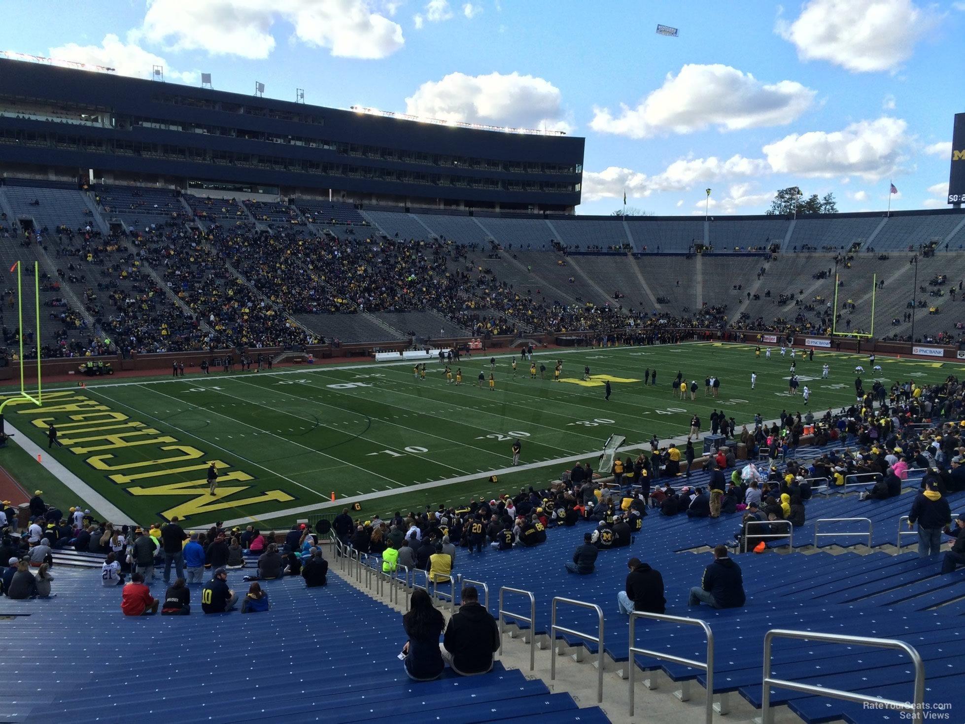 Michigan Stadium Aisle Seat Numbers Brokeasshome Com