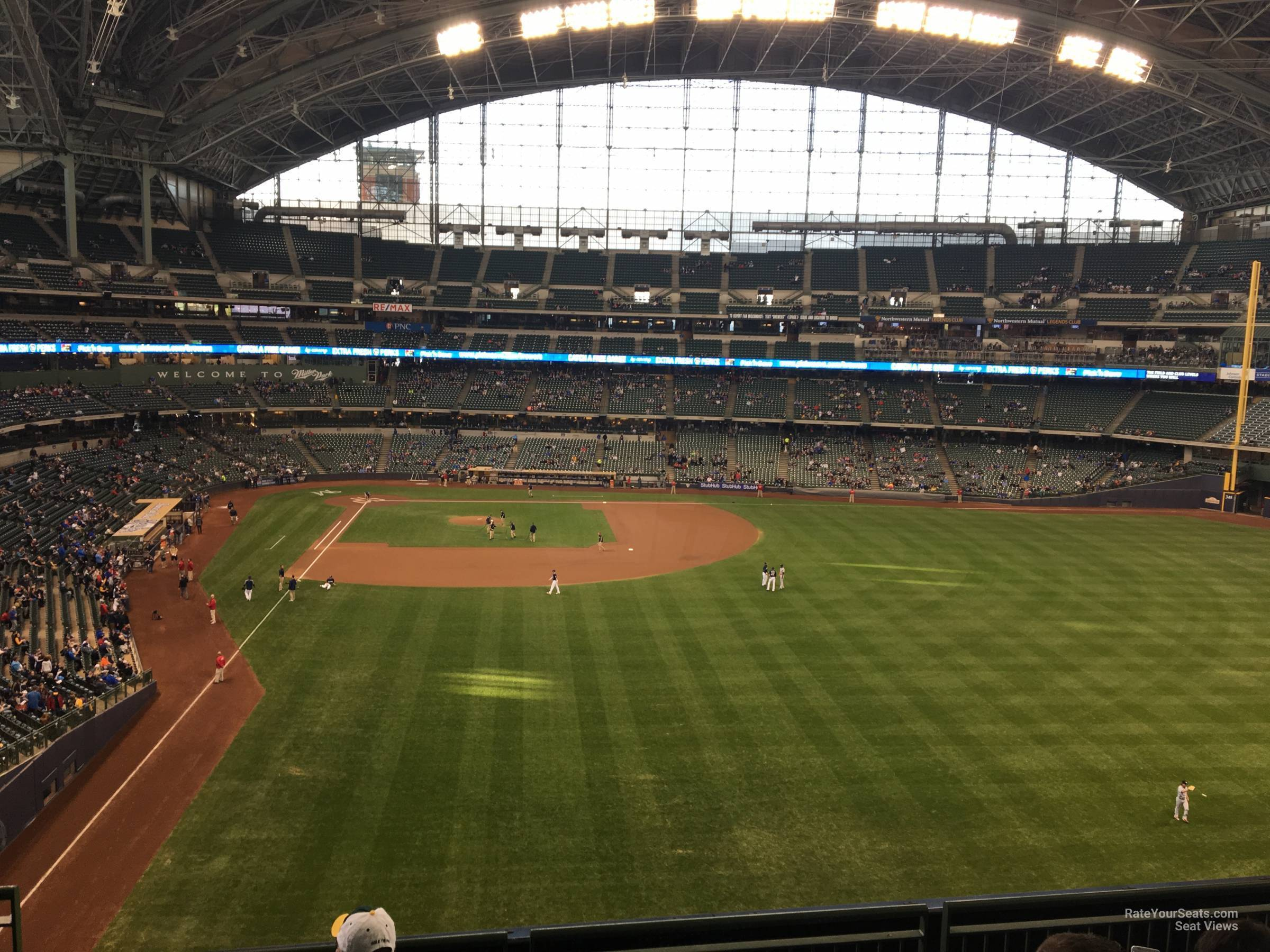 Seat View for American Family Field Section 303, Row 5