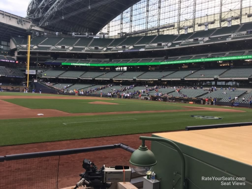Seat View for Miller Park Section 123, Row 5