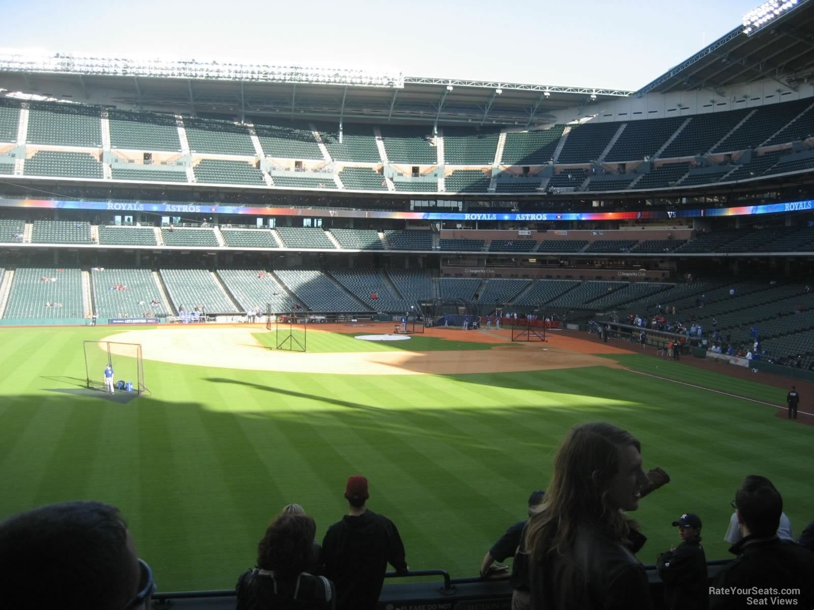 View from Section 100 at Minute Maid Park