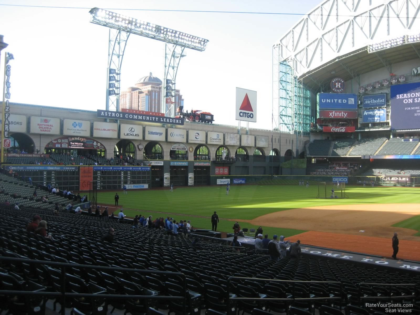 Seat View for Minute Maid Park Section 114, Row 29