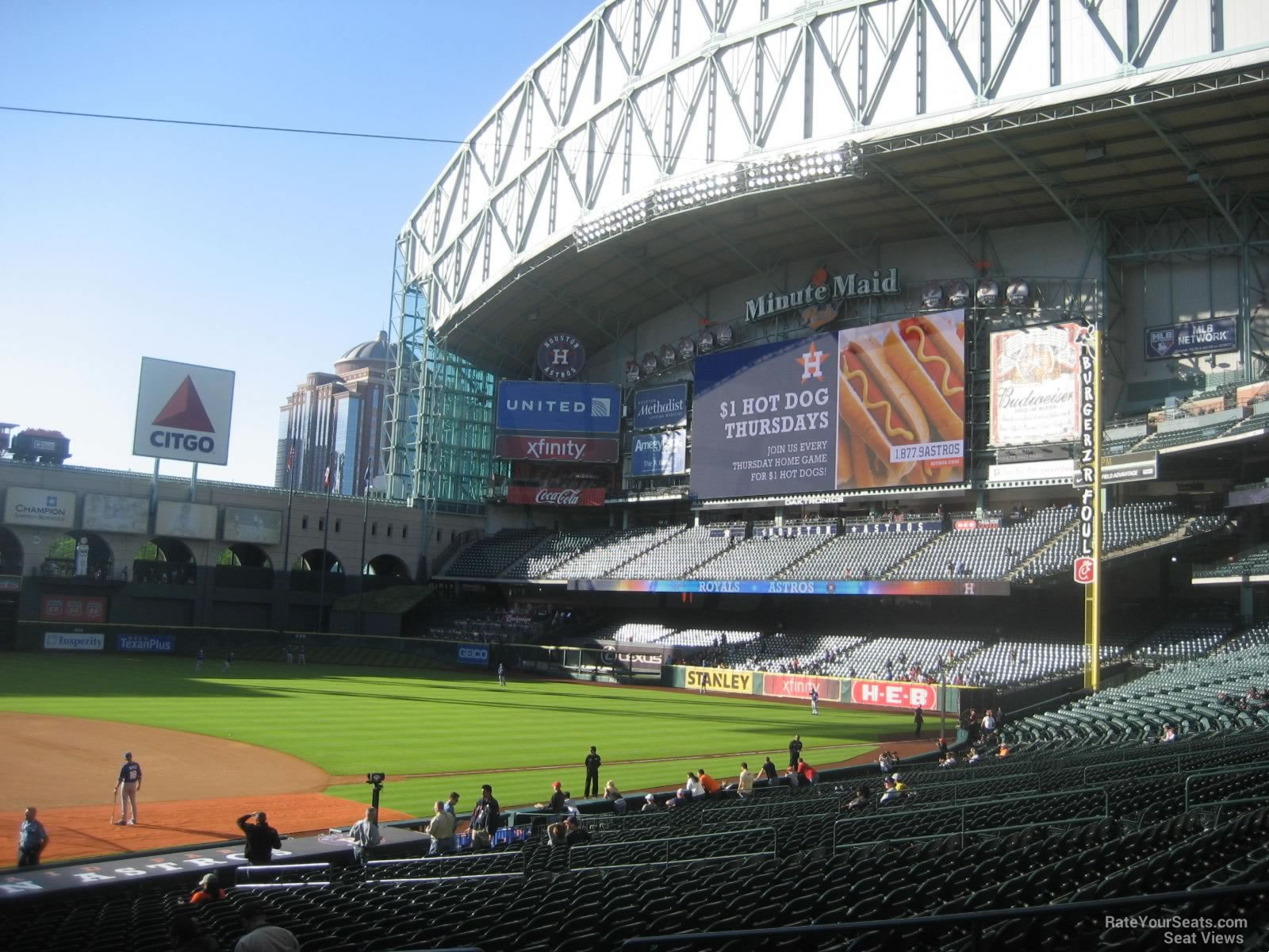 Seat View for Minute Maid Park Section 124, Row 29