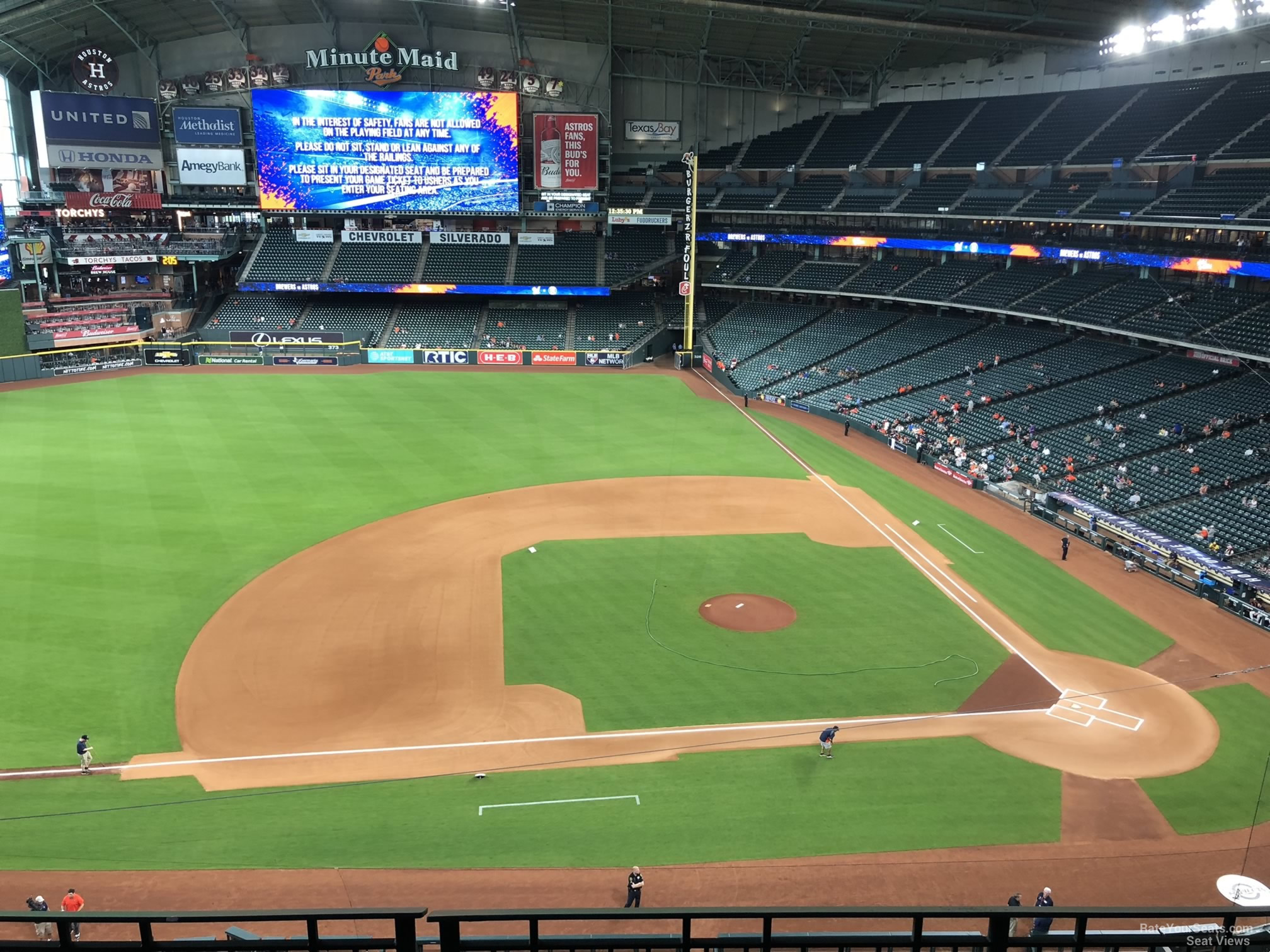 Seat View For Minute Maid Park Section 313 Row 3