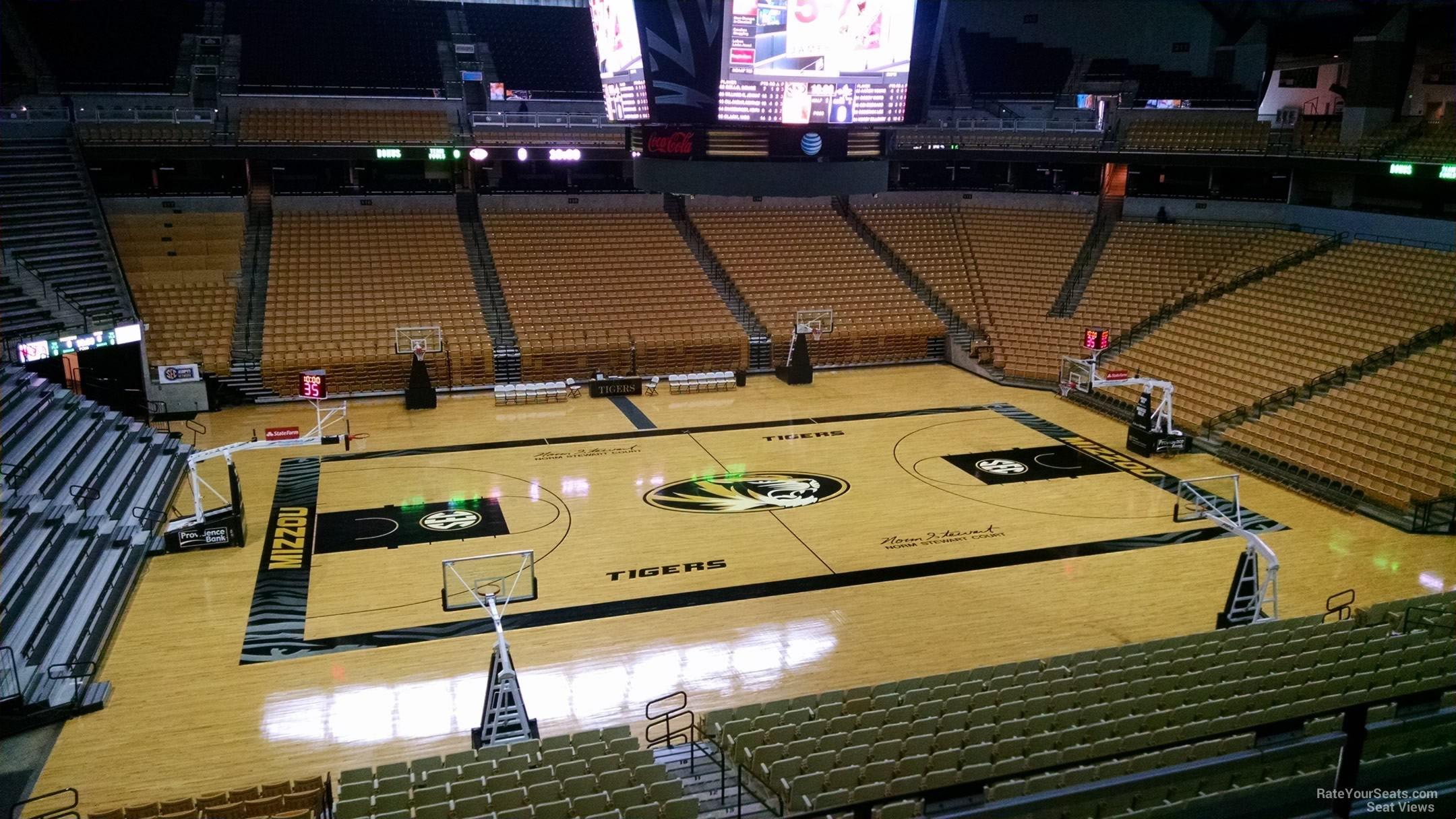 Mizzou arena section 105 rateyourseats com