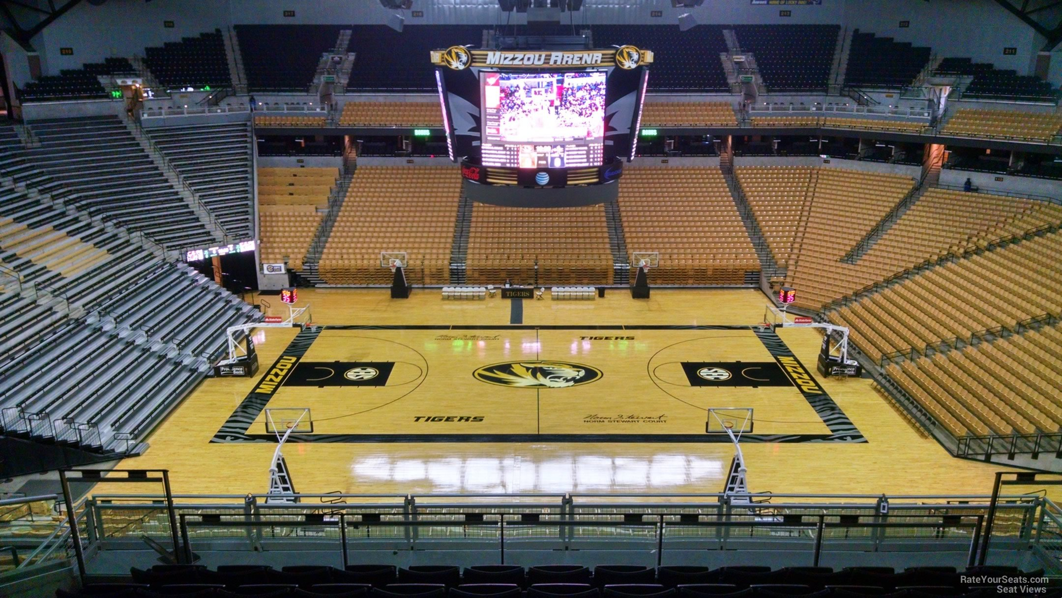 Mizzou arena section 206 rateyourseats com