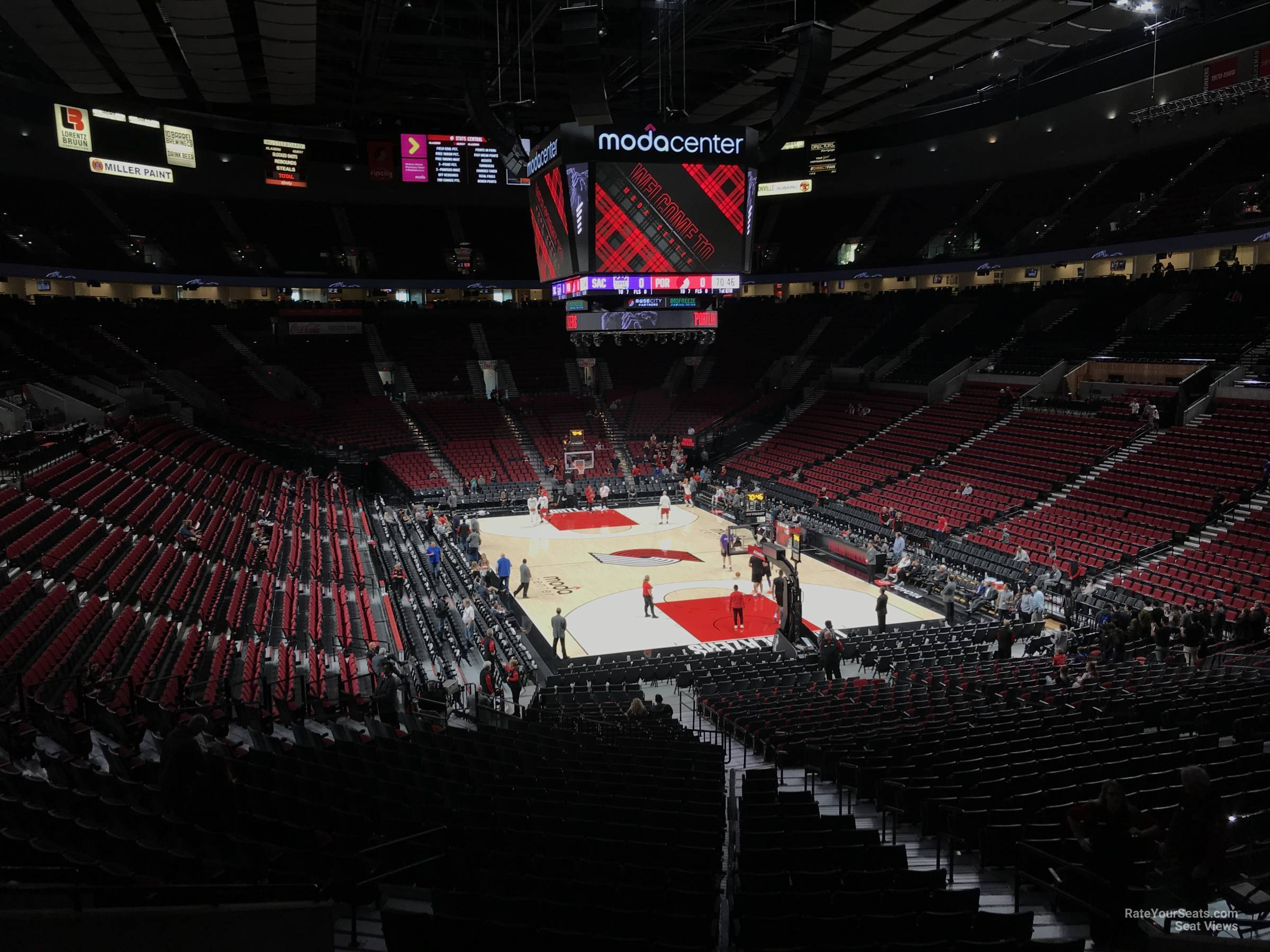 Seat View for Moda Center Section 210, Row K