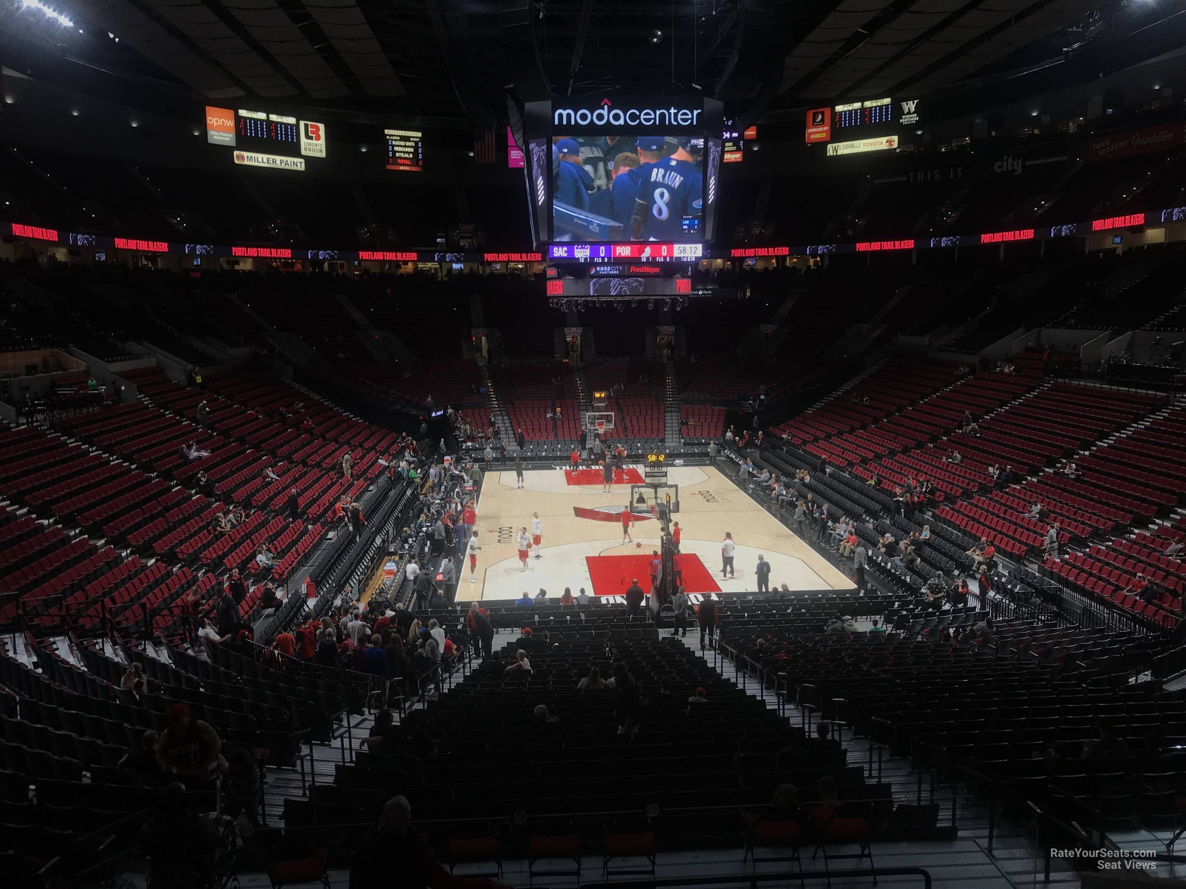 Seat View for Moda Center Section 224, Row K