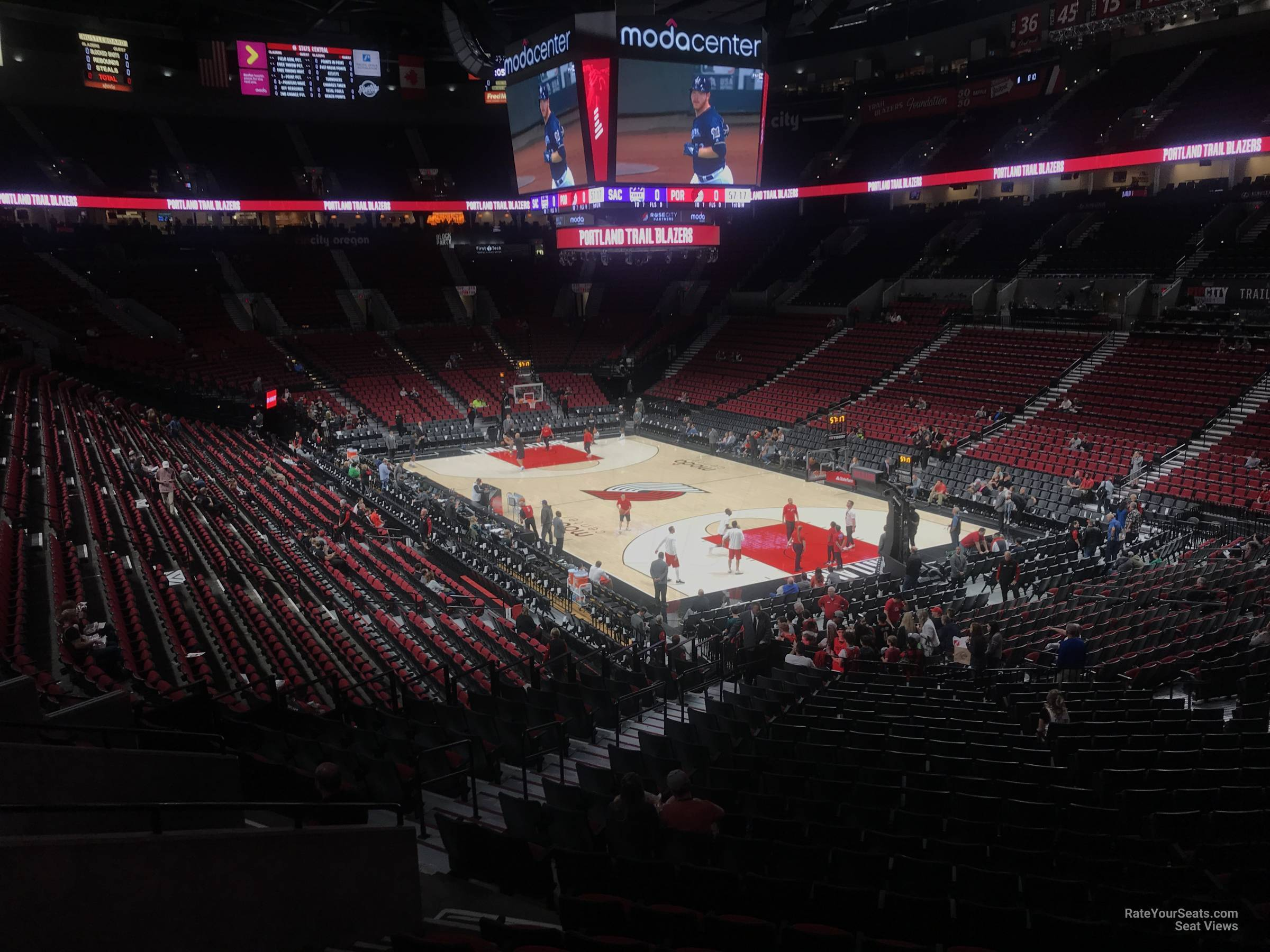 Seat View for Moda Center Section 226, Row K