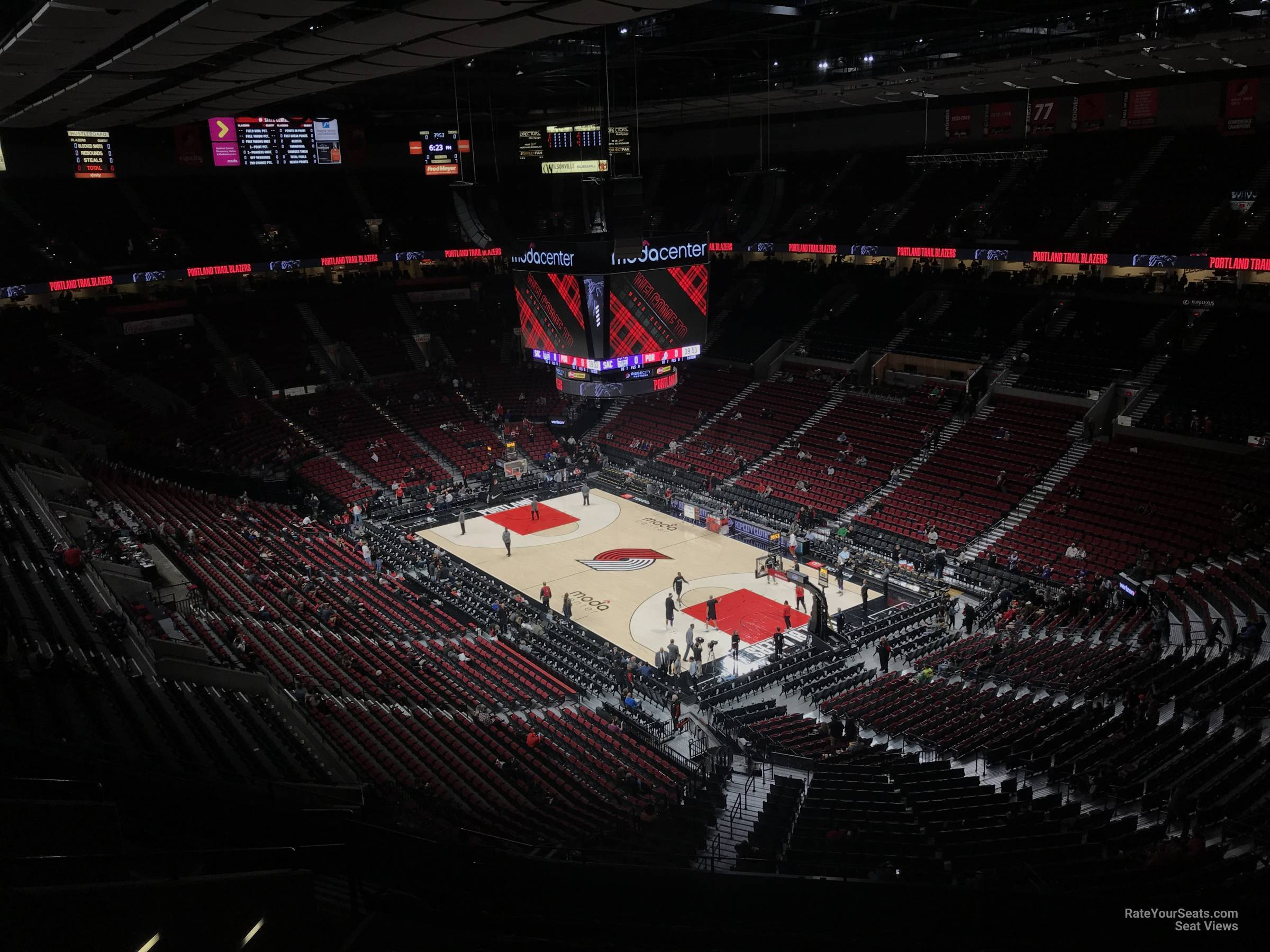 Seat View for Moda Center Section 313, Row L