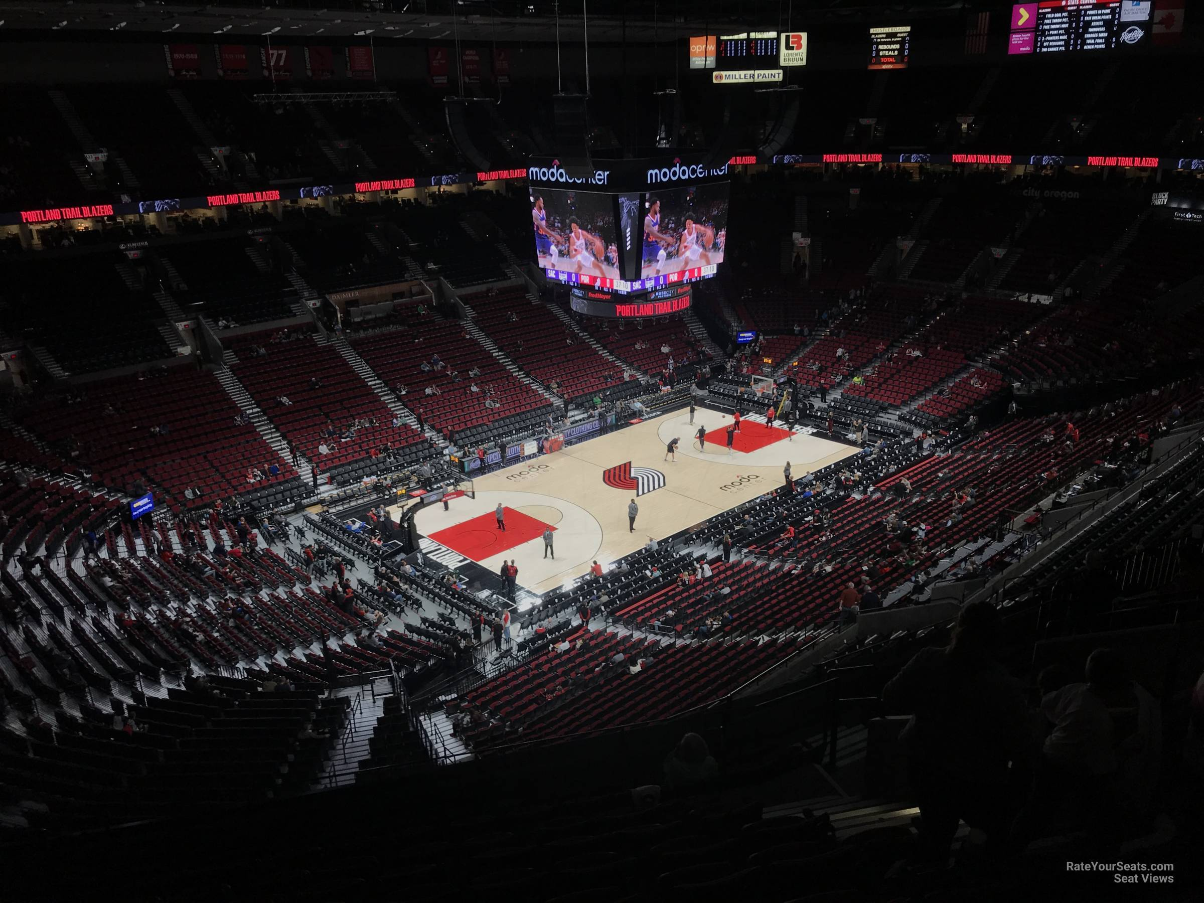 Seat View for Moda Center Section 322, Row L
