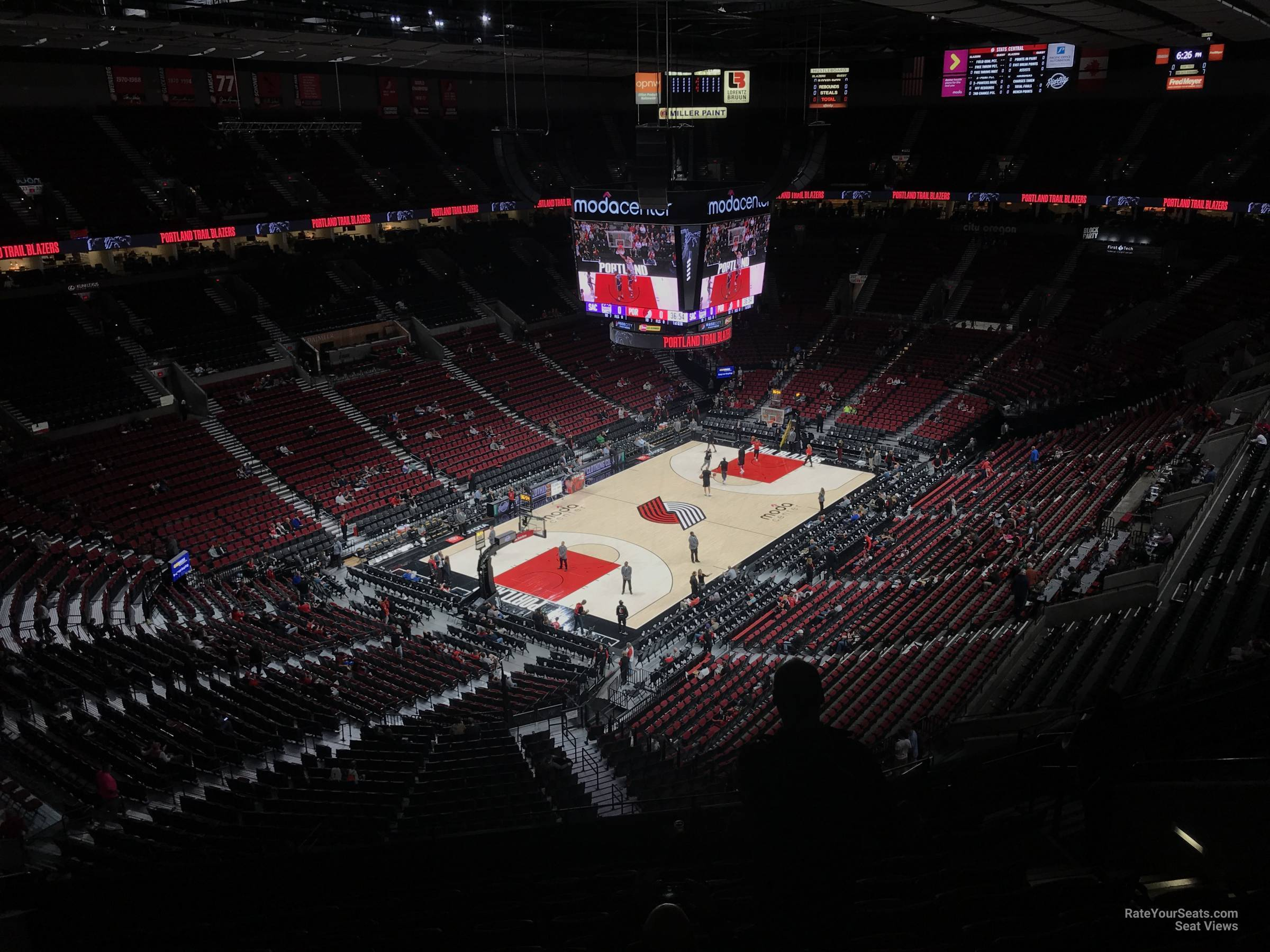 Seat View for Moda Center Section 323, Row L