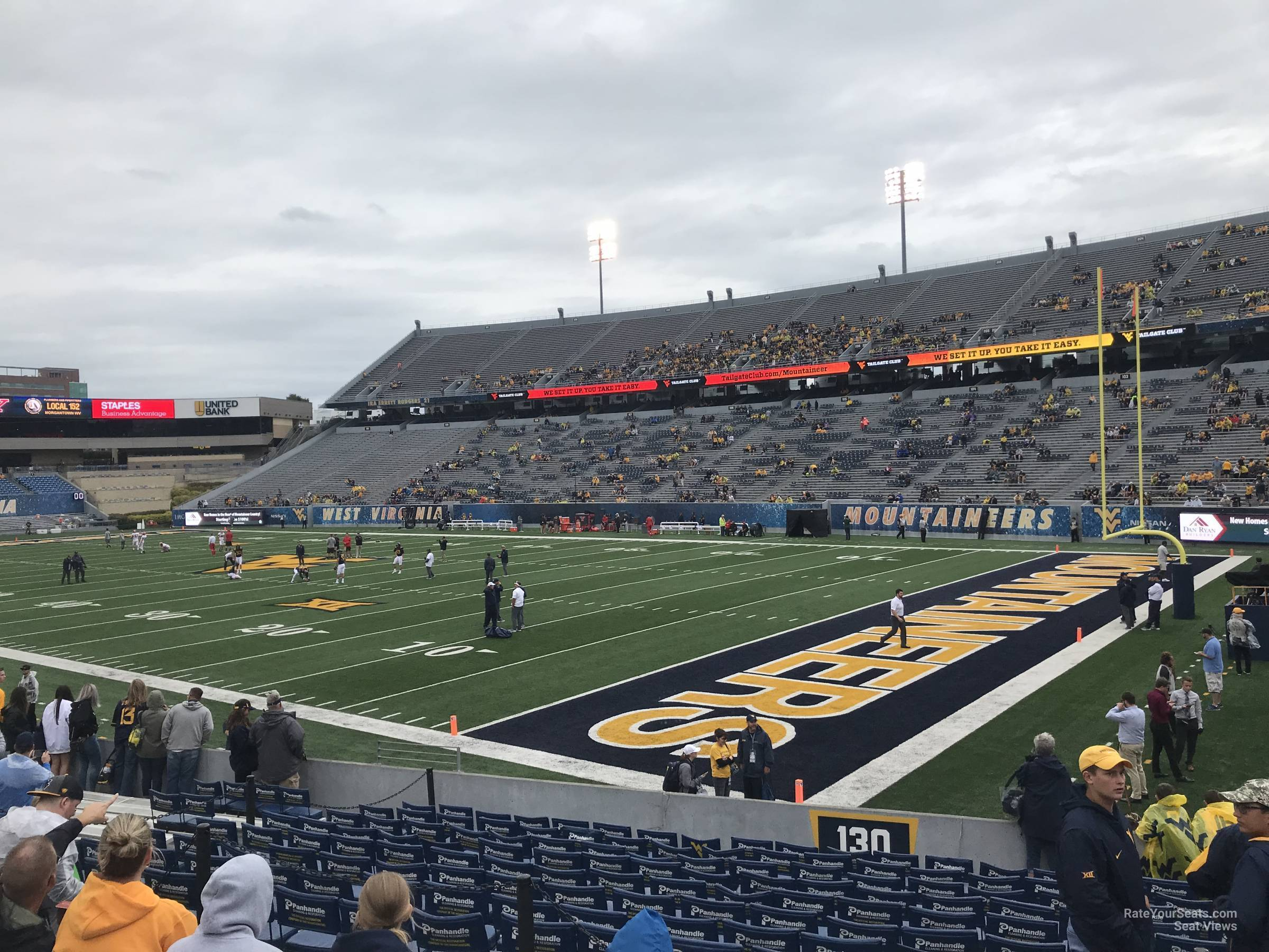 Seat View For Mountaineer Field Section 130