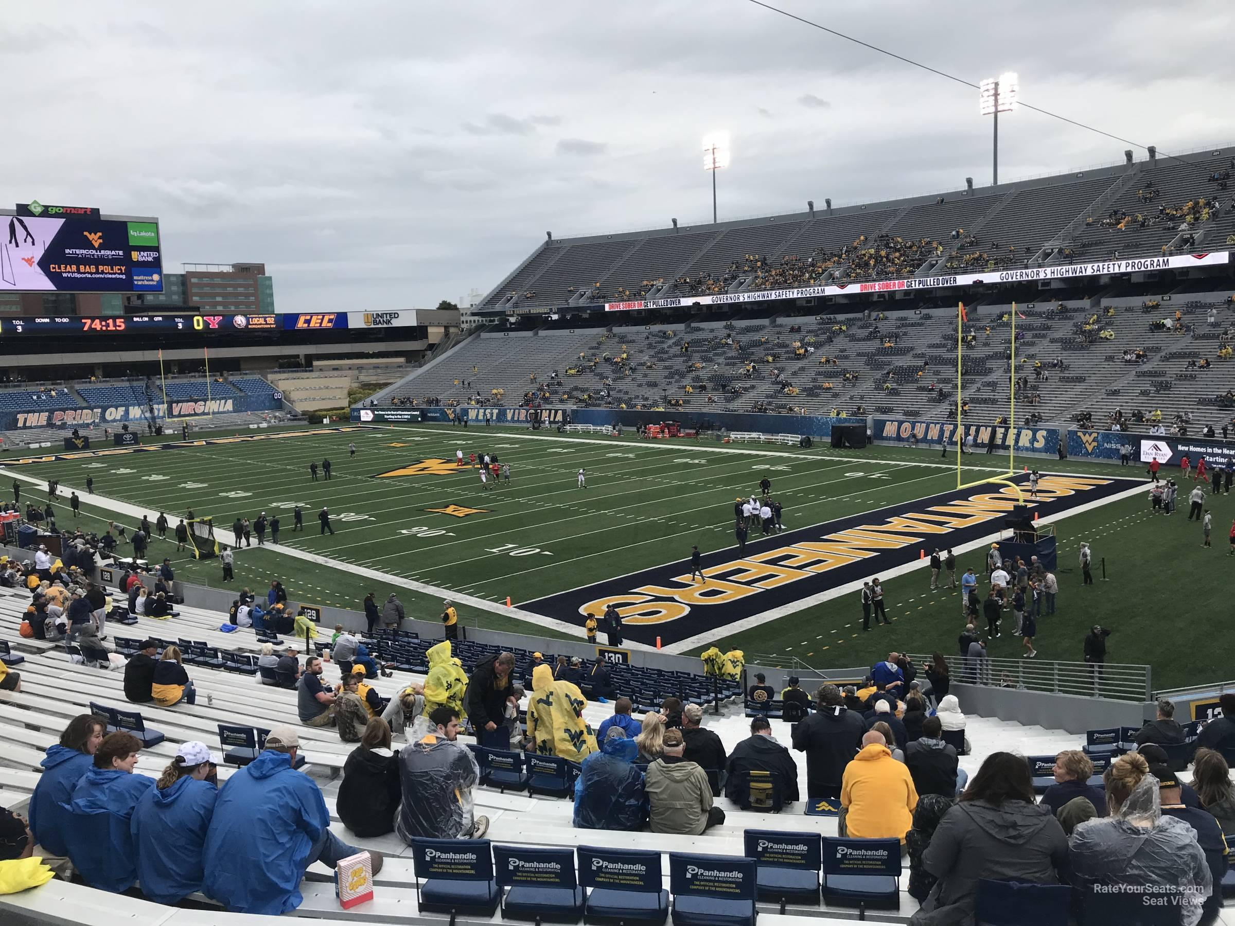 Seat View For Mountaineer Field Section 131