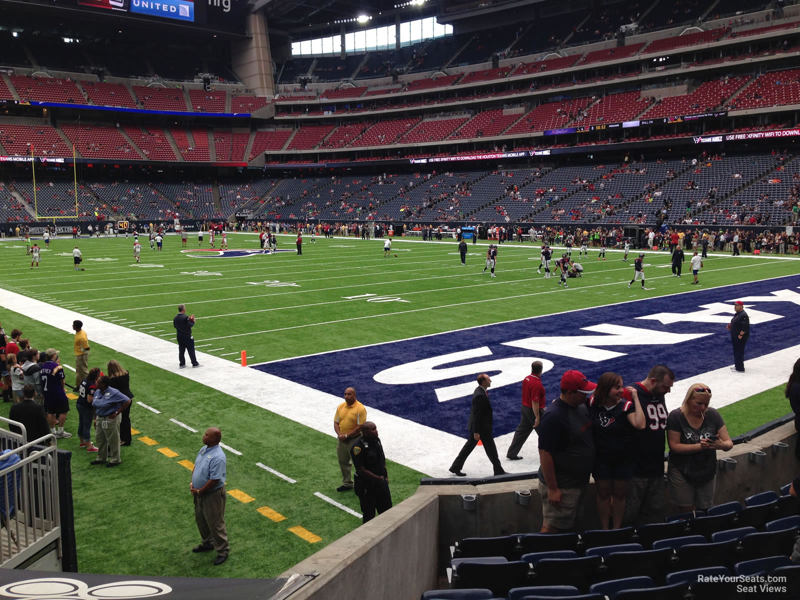 Houston Texans Seat View for NRG Stadium Section 120, Row H