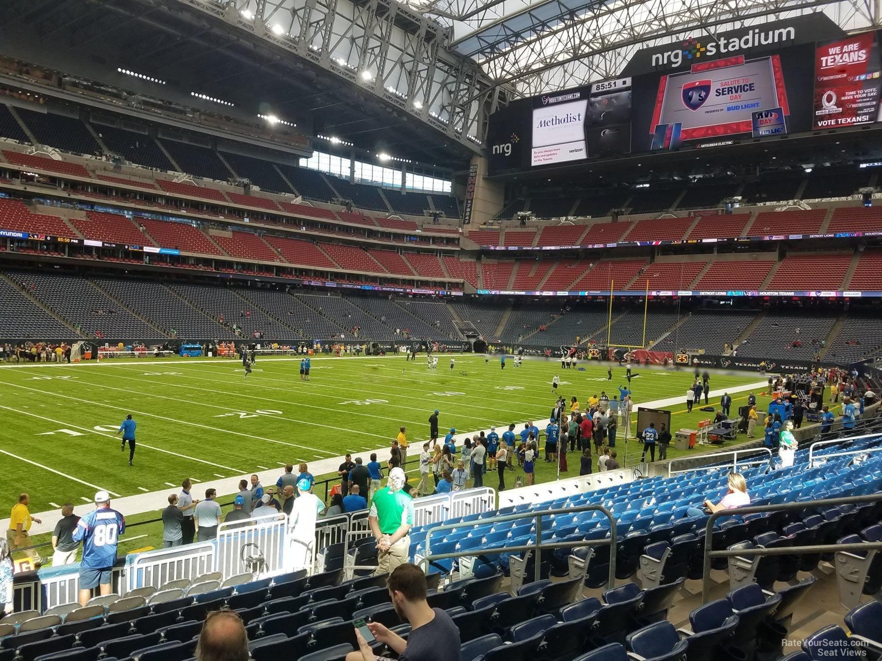 Nrg Stadium Section 131 Houston Texans Rateyourseatscom