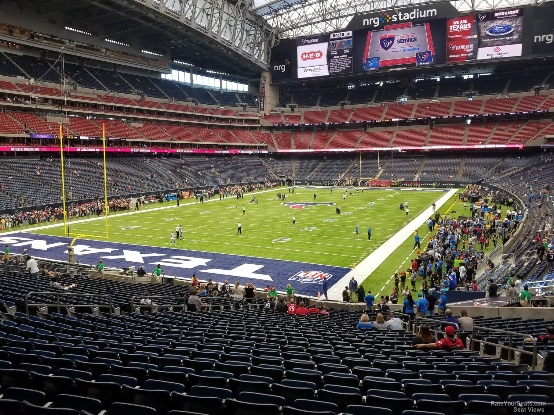 NRG Stadium Section 134 Row FF on 10 30 2016k