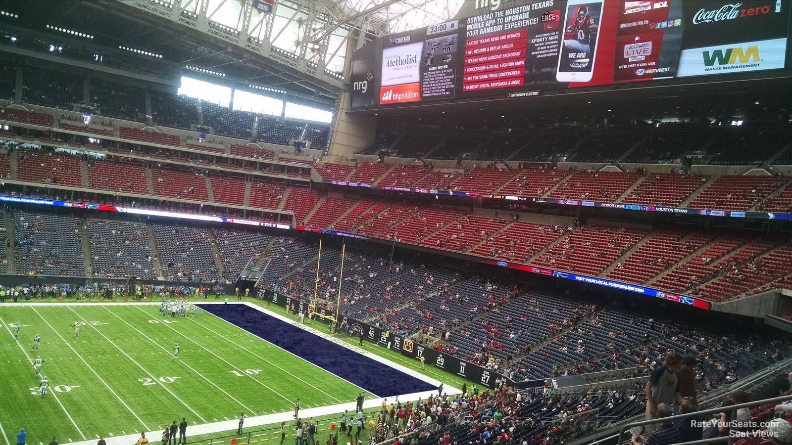 Houston Texans Nrg Stadium Section 309 Rateyourseats Com