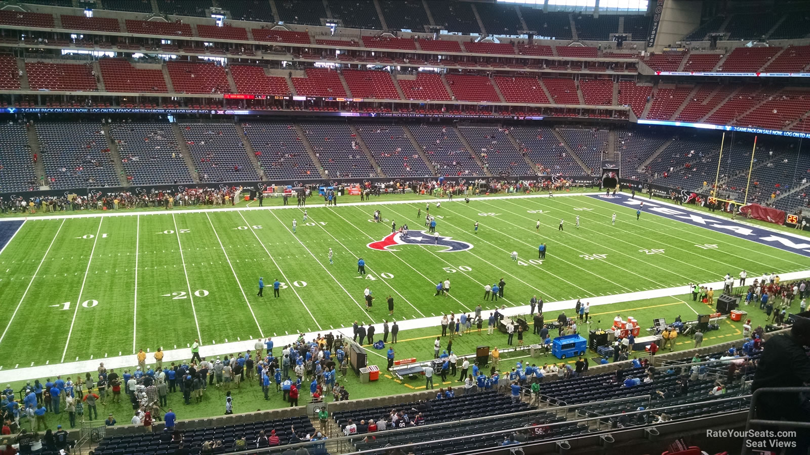 Houston Texans Seat View for NRG Stadium Section 340, Row L