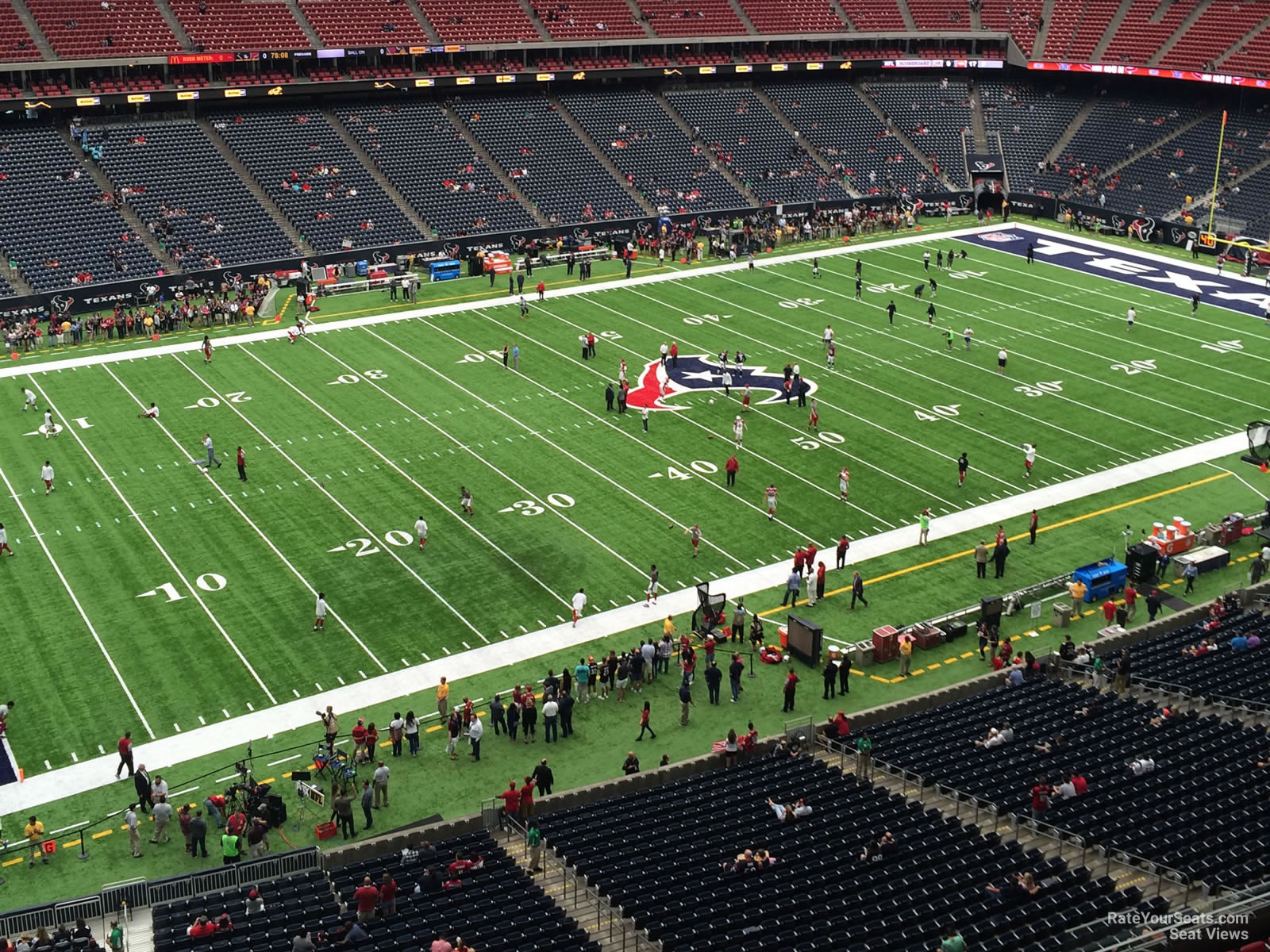 Houston Texans Seat View for NRG Stadium Section 538, Row H
