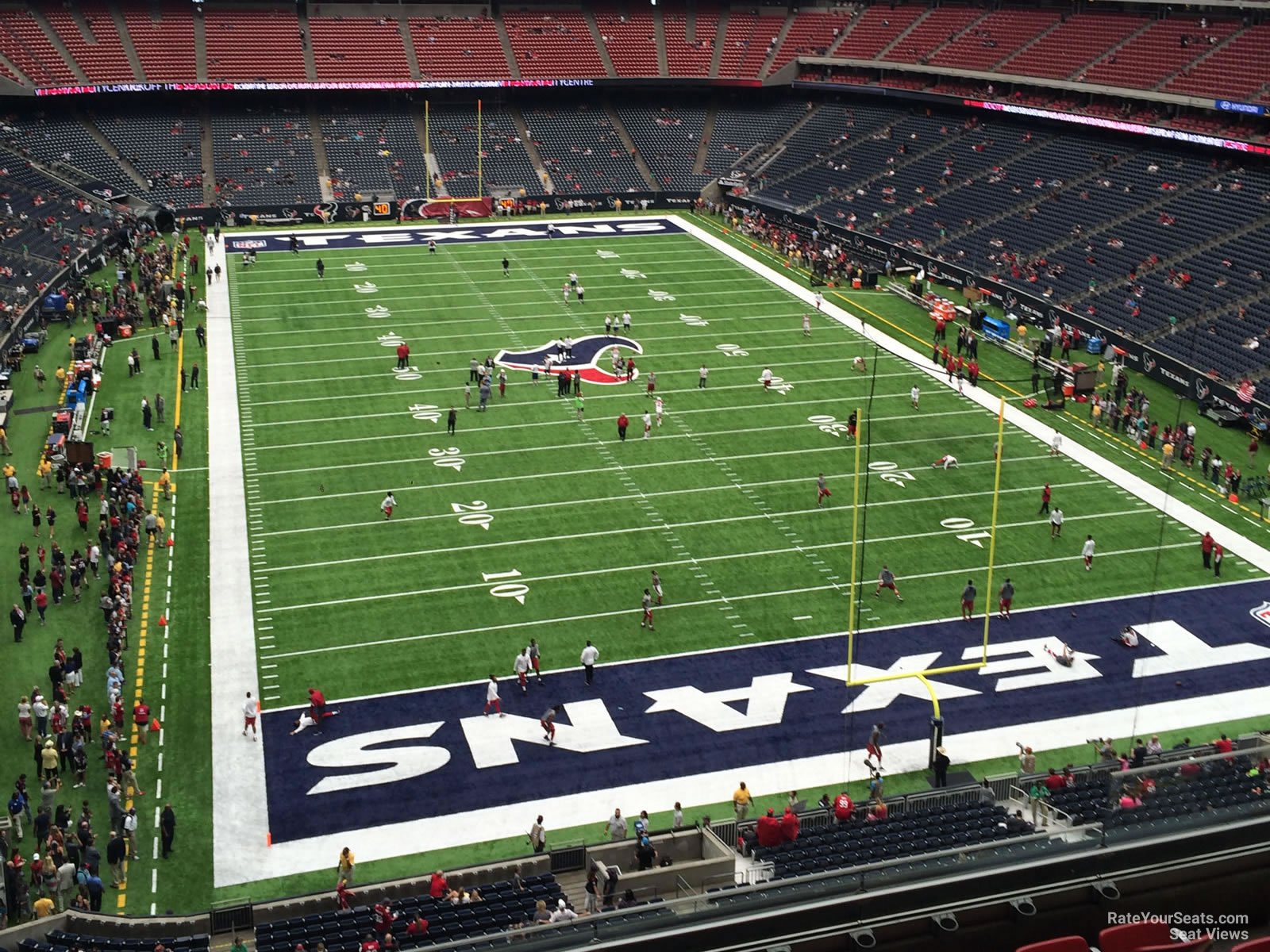 Houston Texans Seat View for NRG Stadium Section 549, Row H