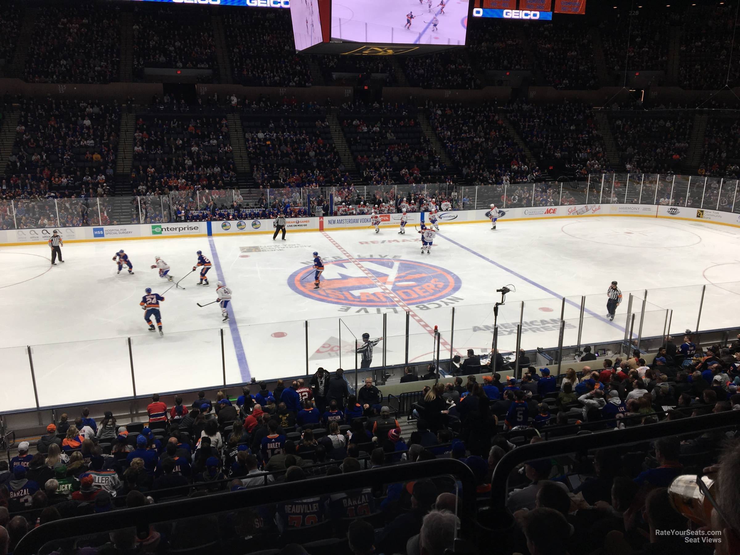 Seat View for Nassau Coliseum Section 104, Row 10