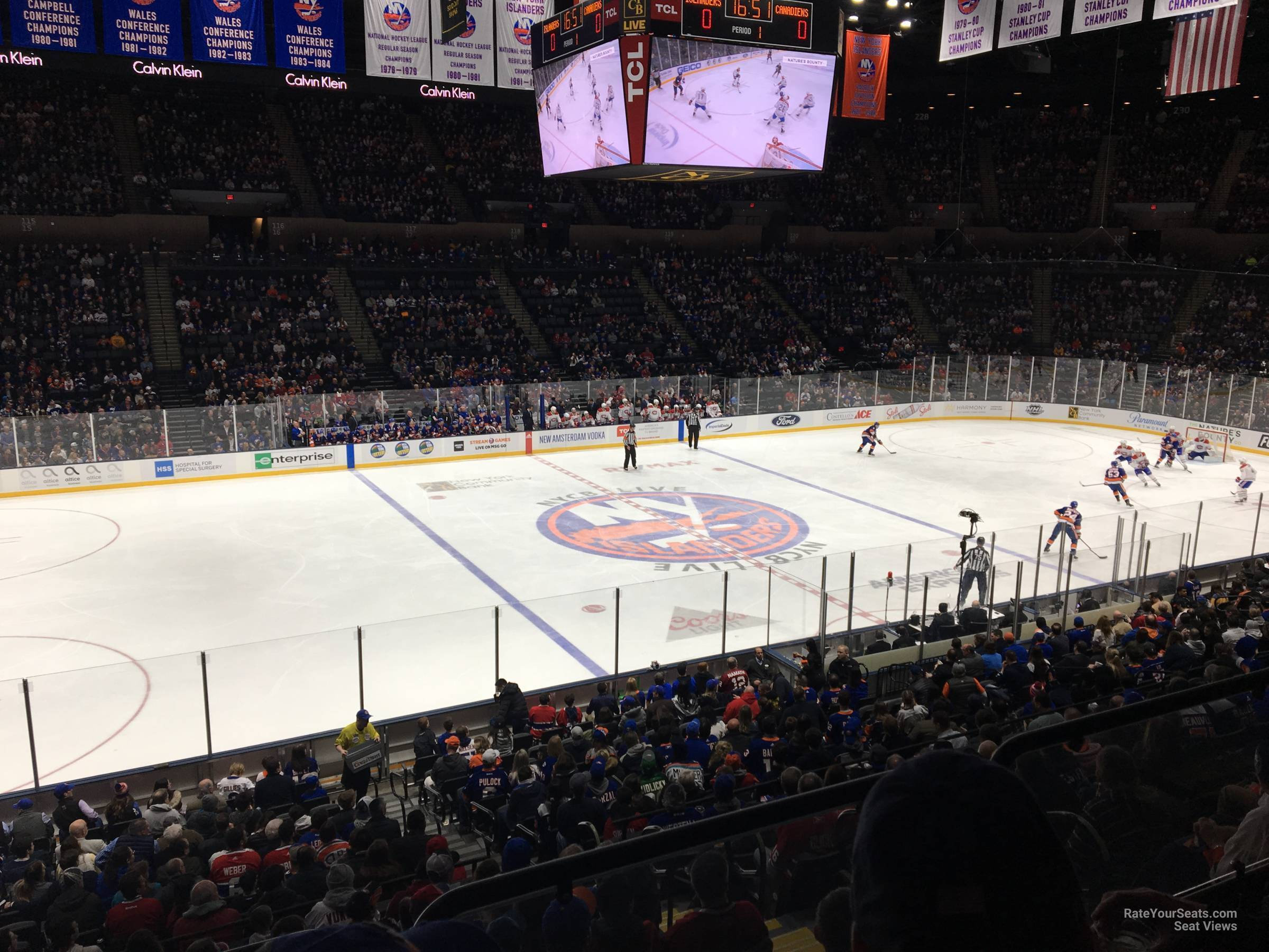 Seat View for Nassau Coliseum Section 105, Row 10