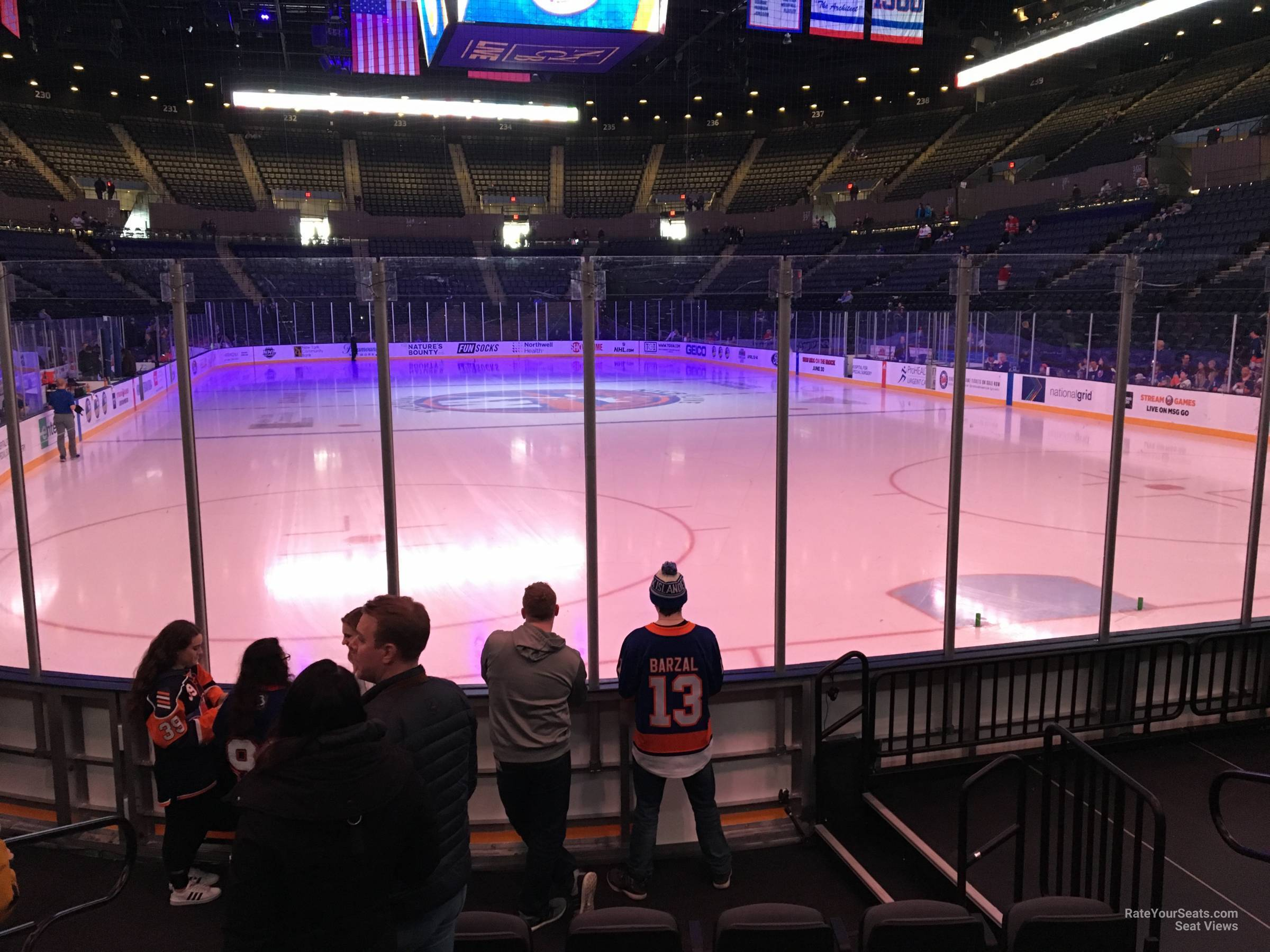 Seat View for Nassau Coliseum Section 11, Row 5