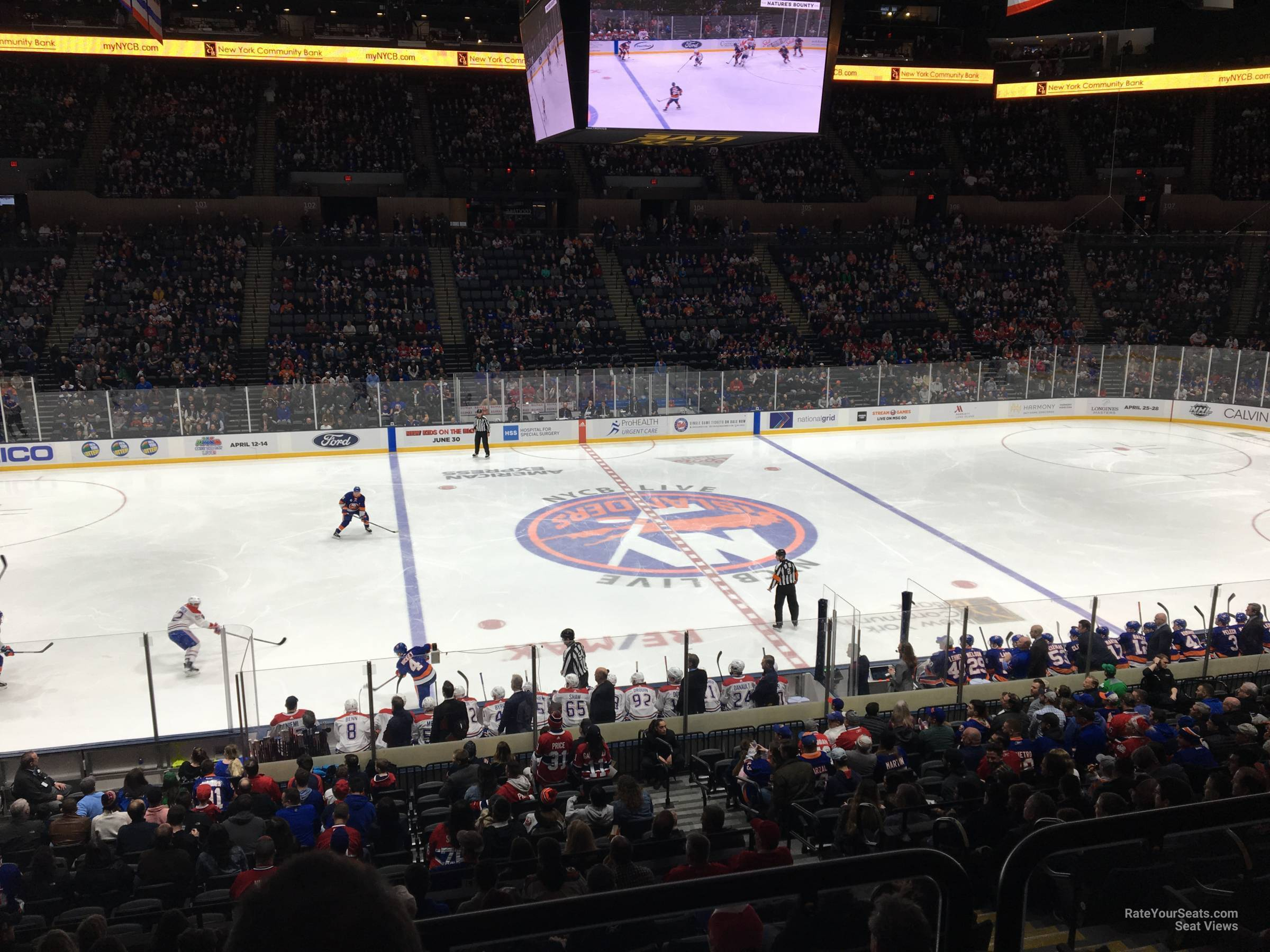 Seat View for Nassau Coliseum Section 118, Row 10