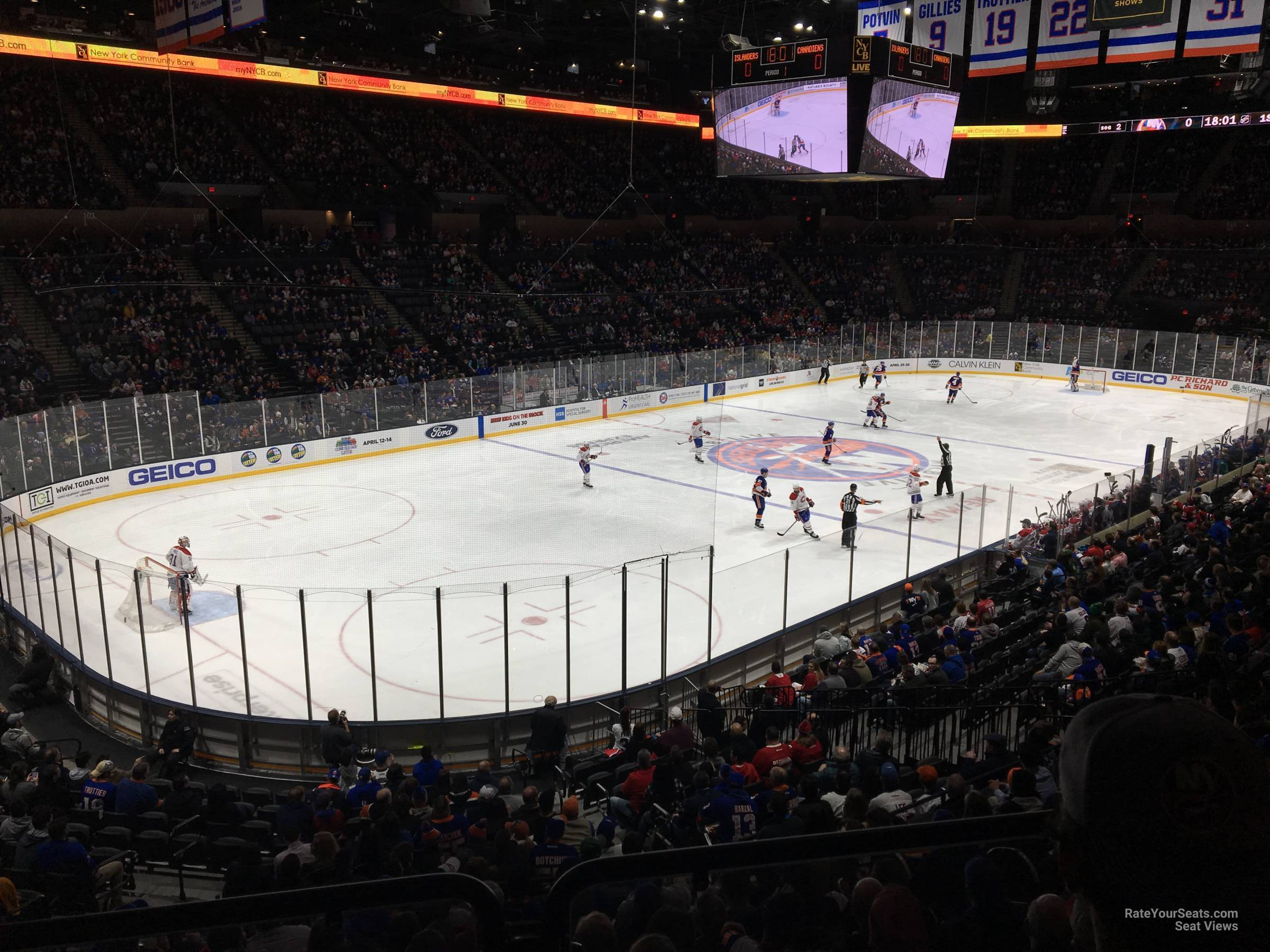 Seat View for Nassau Coliseum Section 121, Row 10
