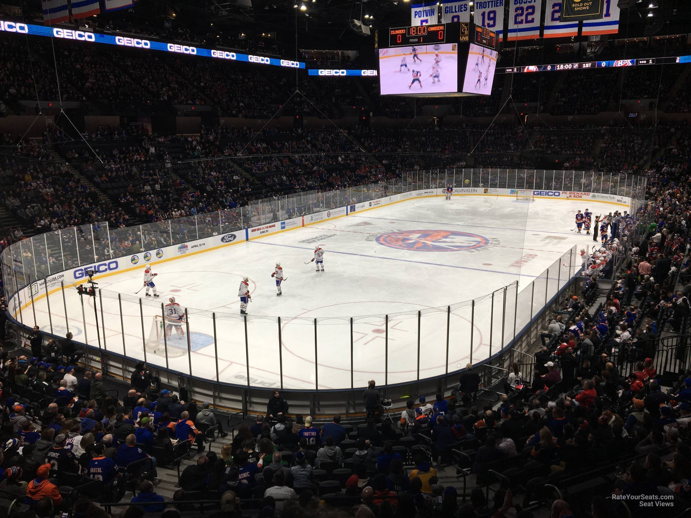 Seat View for Nassau Coliseum Section 122, Row 10