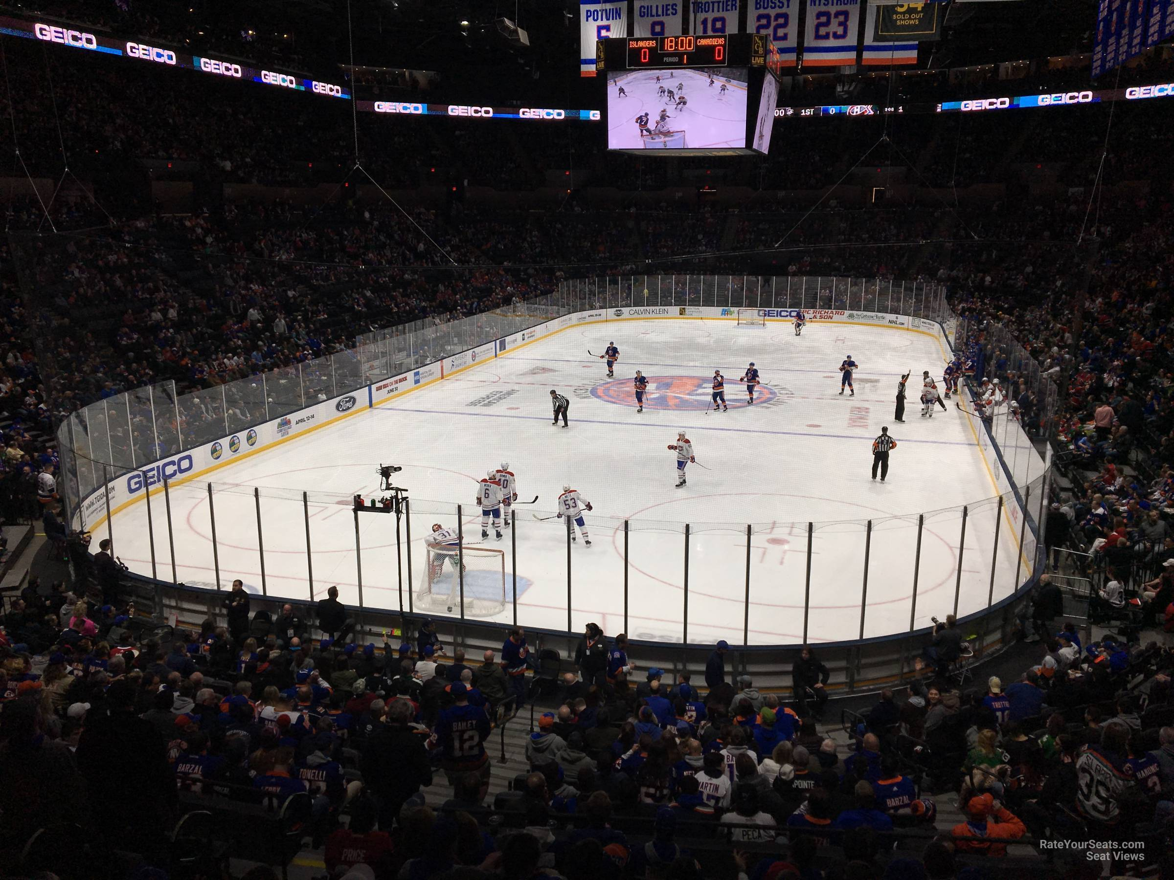 Seat View for Nassau Coliseum Section 123, Row 10