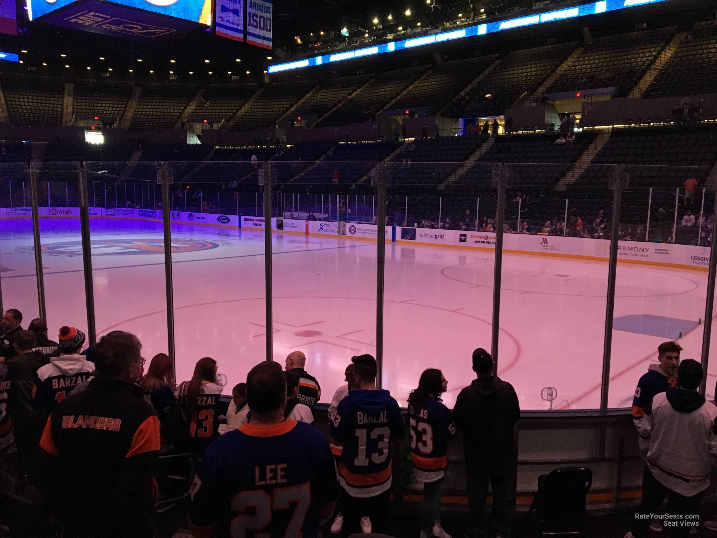 Seat View for Nassau Coliseum Section 13, Row 5