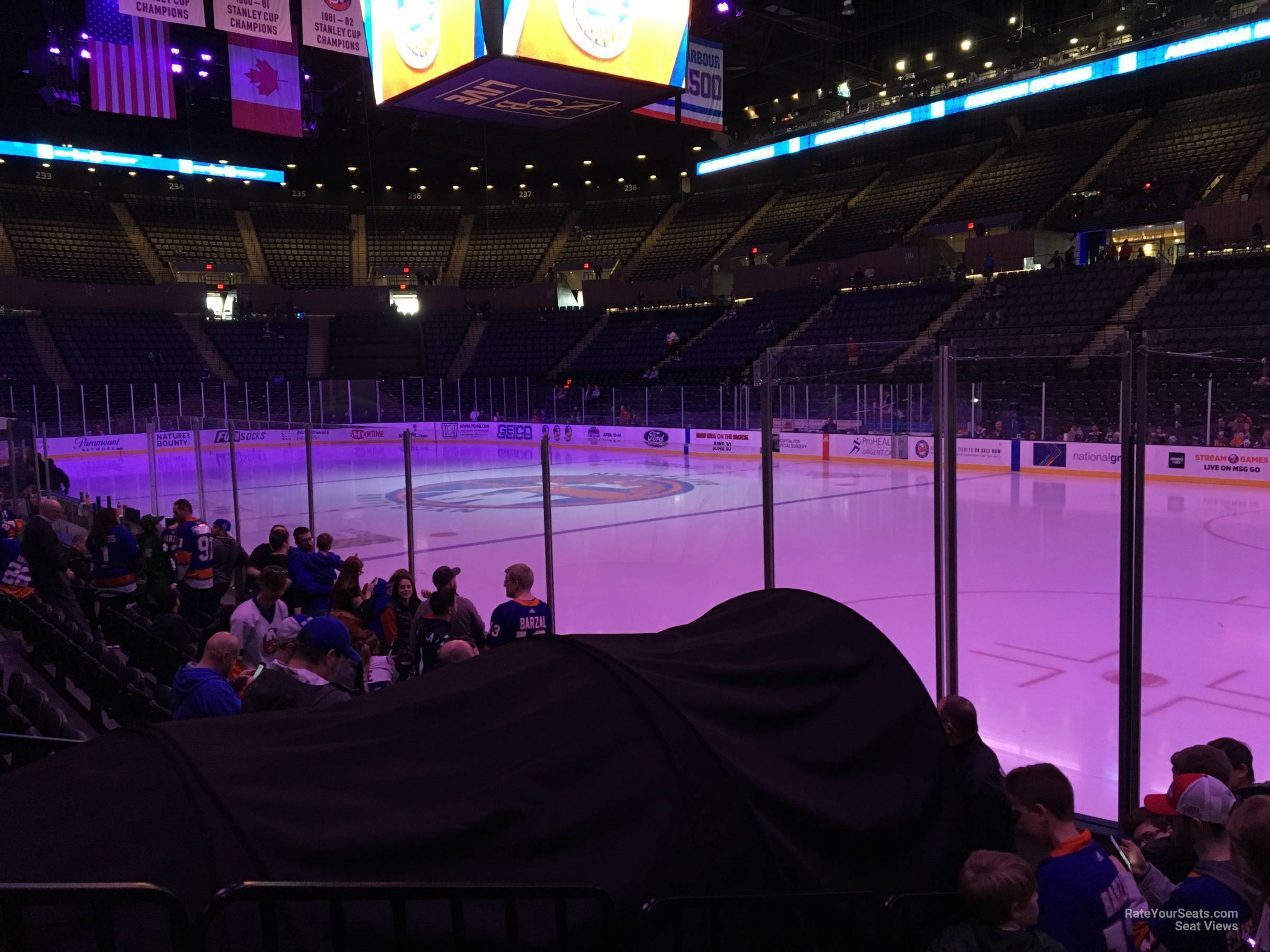 Seat View for Nassau Coliseum Section 14, Row 5