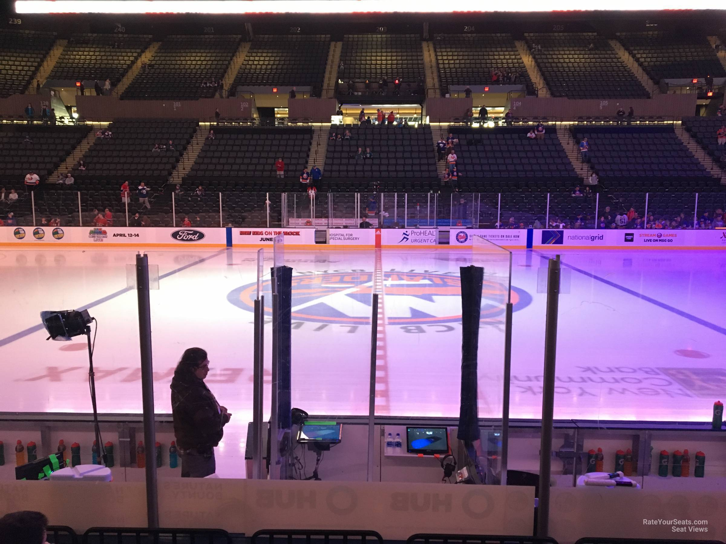 Seat View for Nassau Coliseum Section 17, Row 5