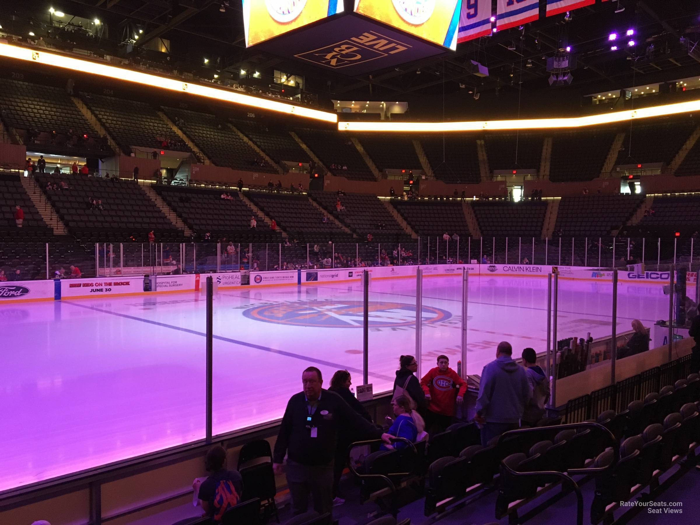 Seat View for Nassau Coliseum Section 19, Row 5