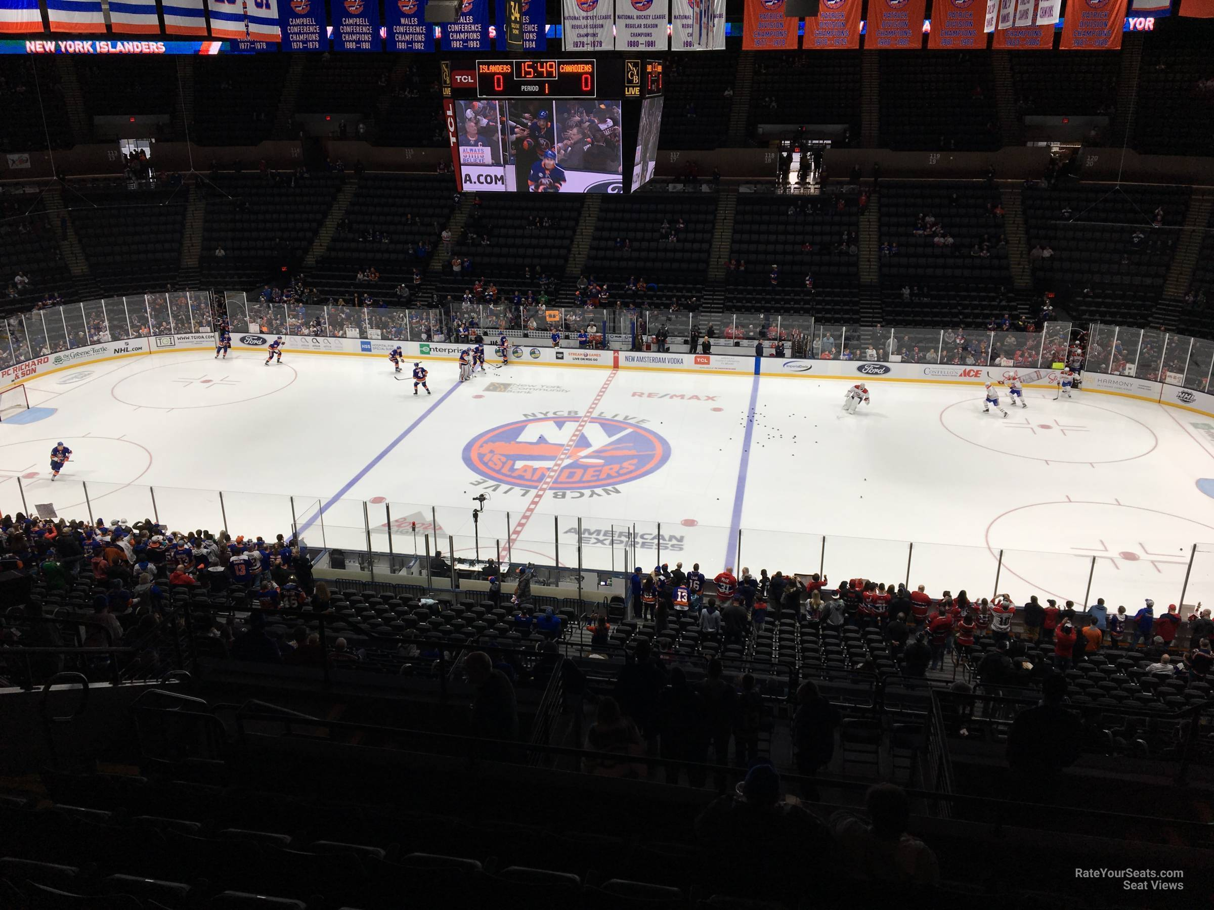 Seat View for Nassau Coliseum Section 202, Row 10
