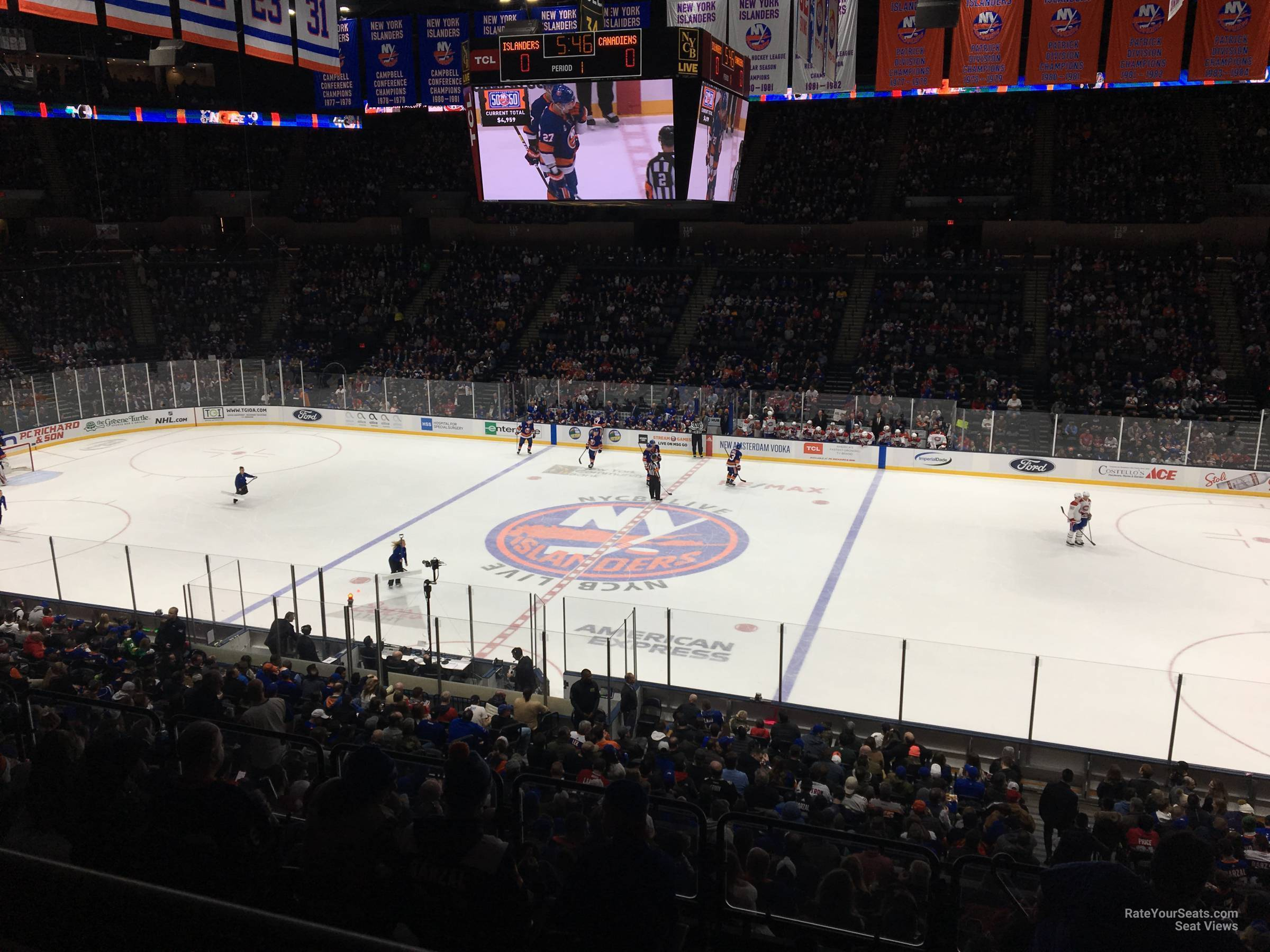 Seat View for Nassau Coliseum Section 202, Row 5