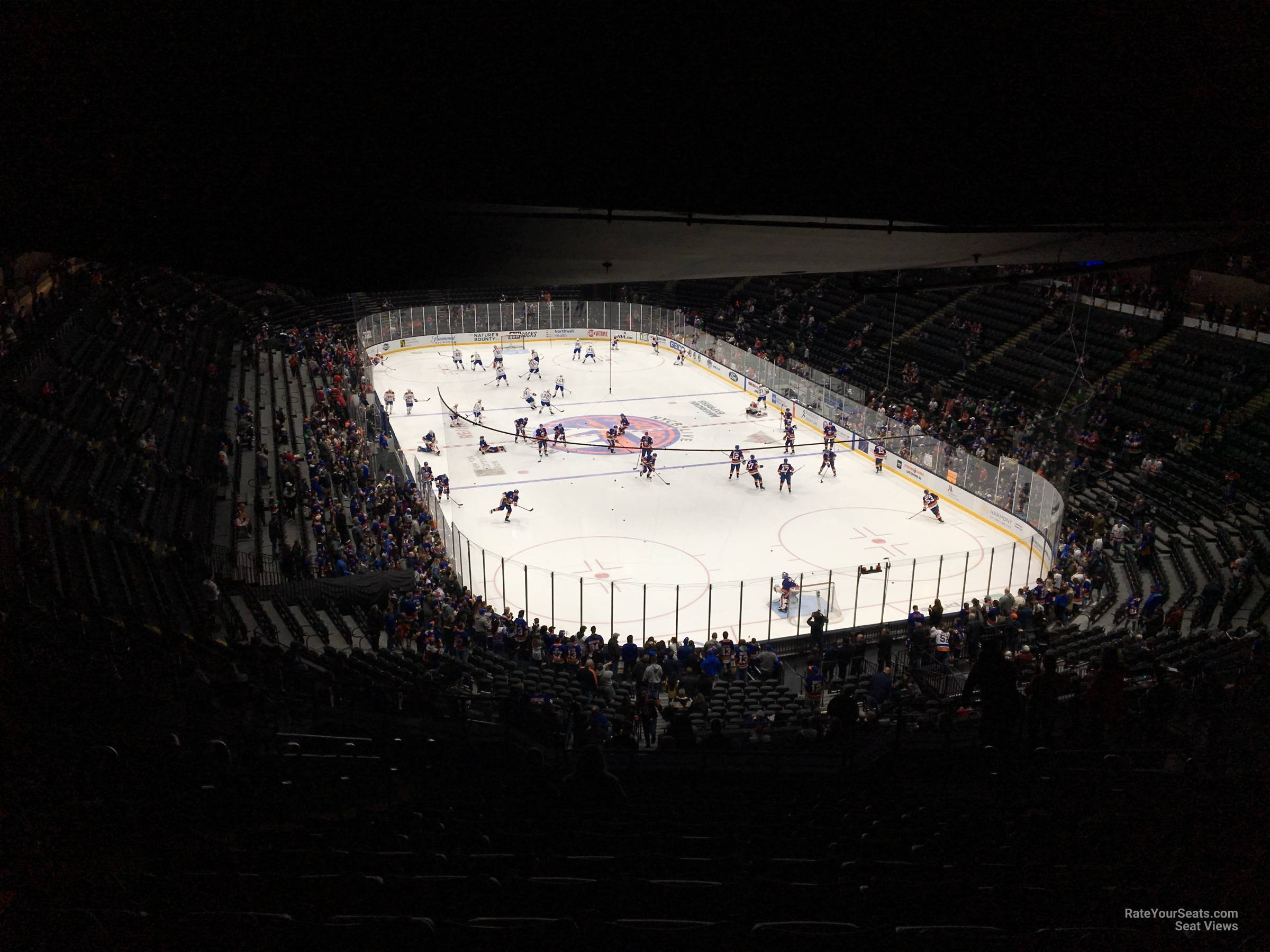 Seat View for Nassau Coliseum Section 215, Row 15