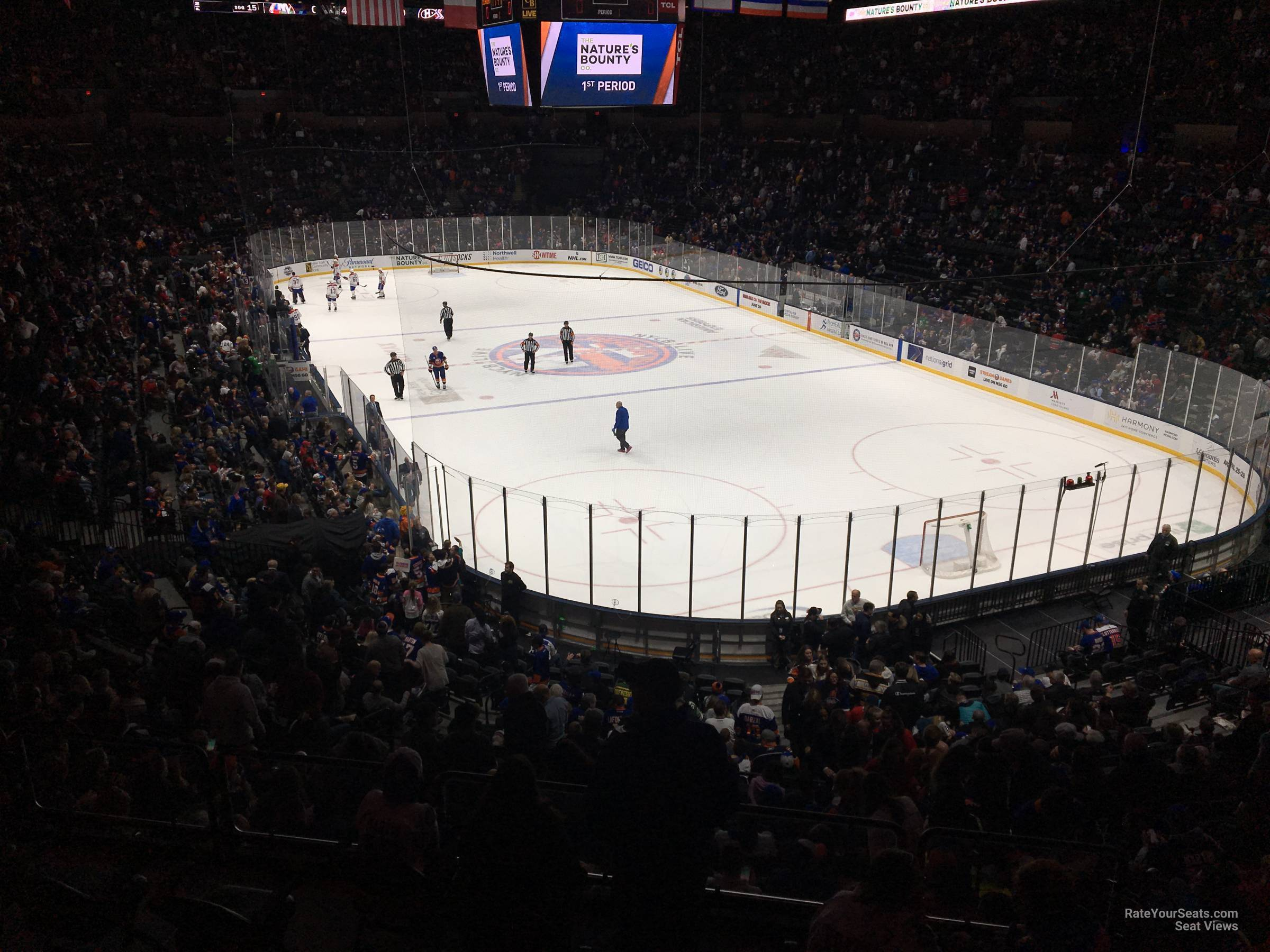 Seat View for Nassau Coliseum Section 215, Row 5
