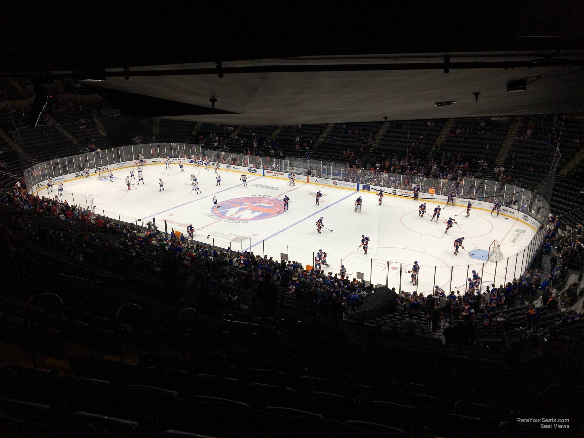Seat View for Nassau Coliseum Section 219, Row 15