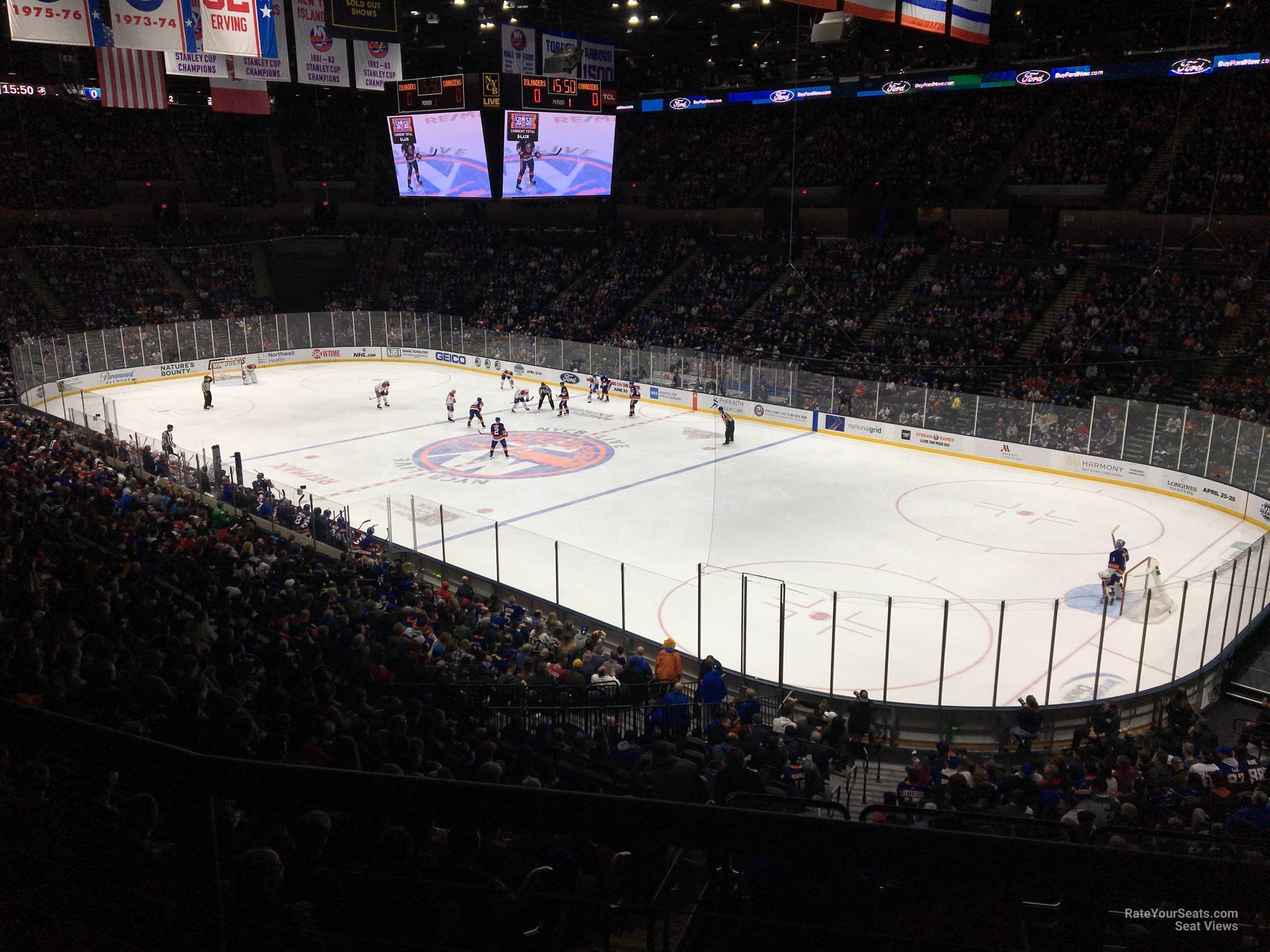 Seat View for Nassau Coliseum Section 219, Row 5