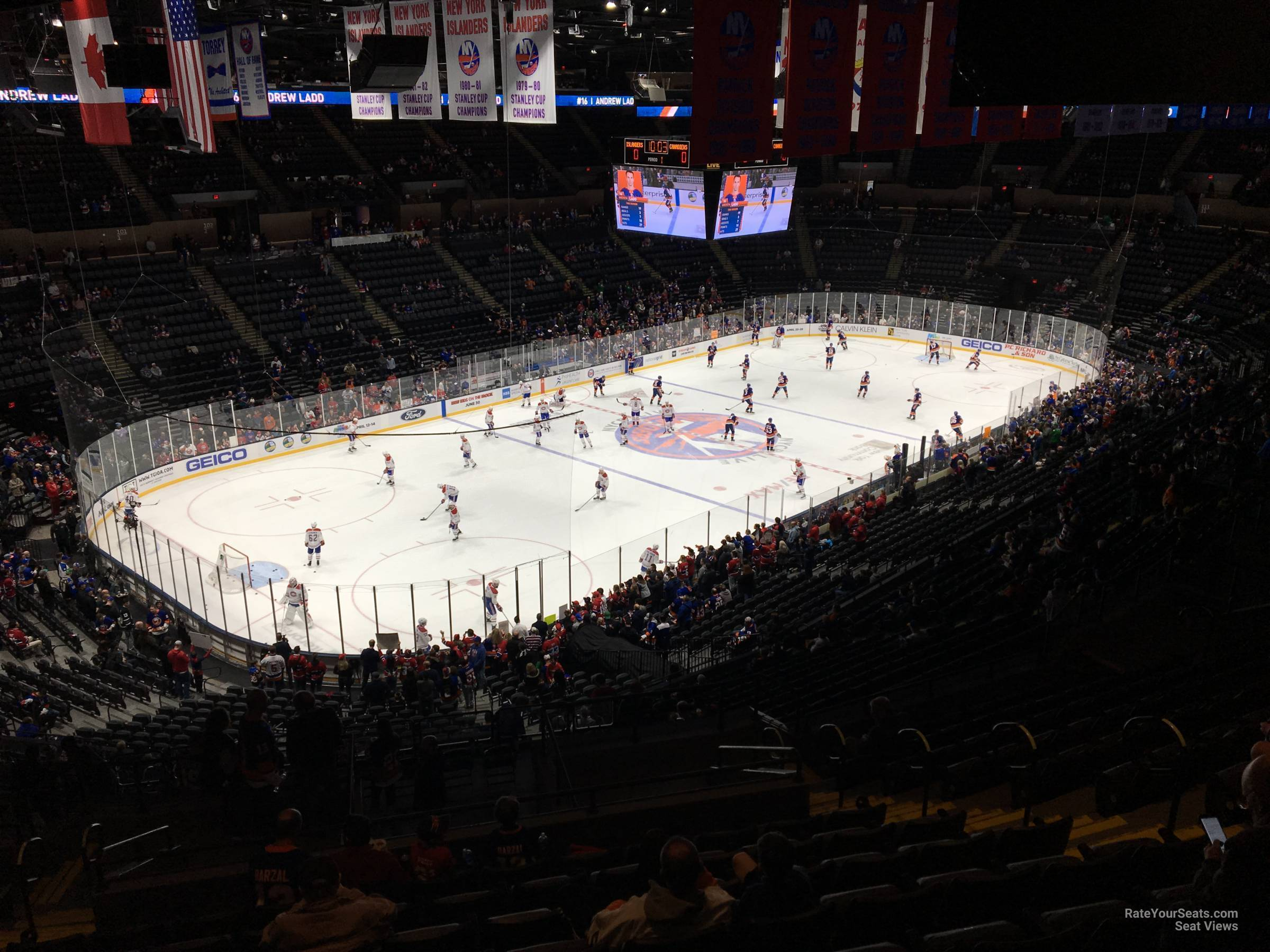 Seat View for Nassau Coliseum Section 228, Row 15