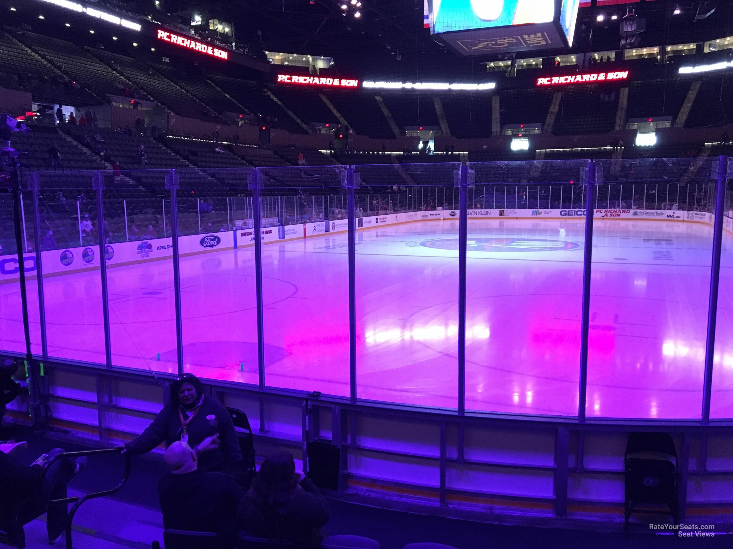 Seat View for Nassau Coliseum Section 23, Row 5