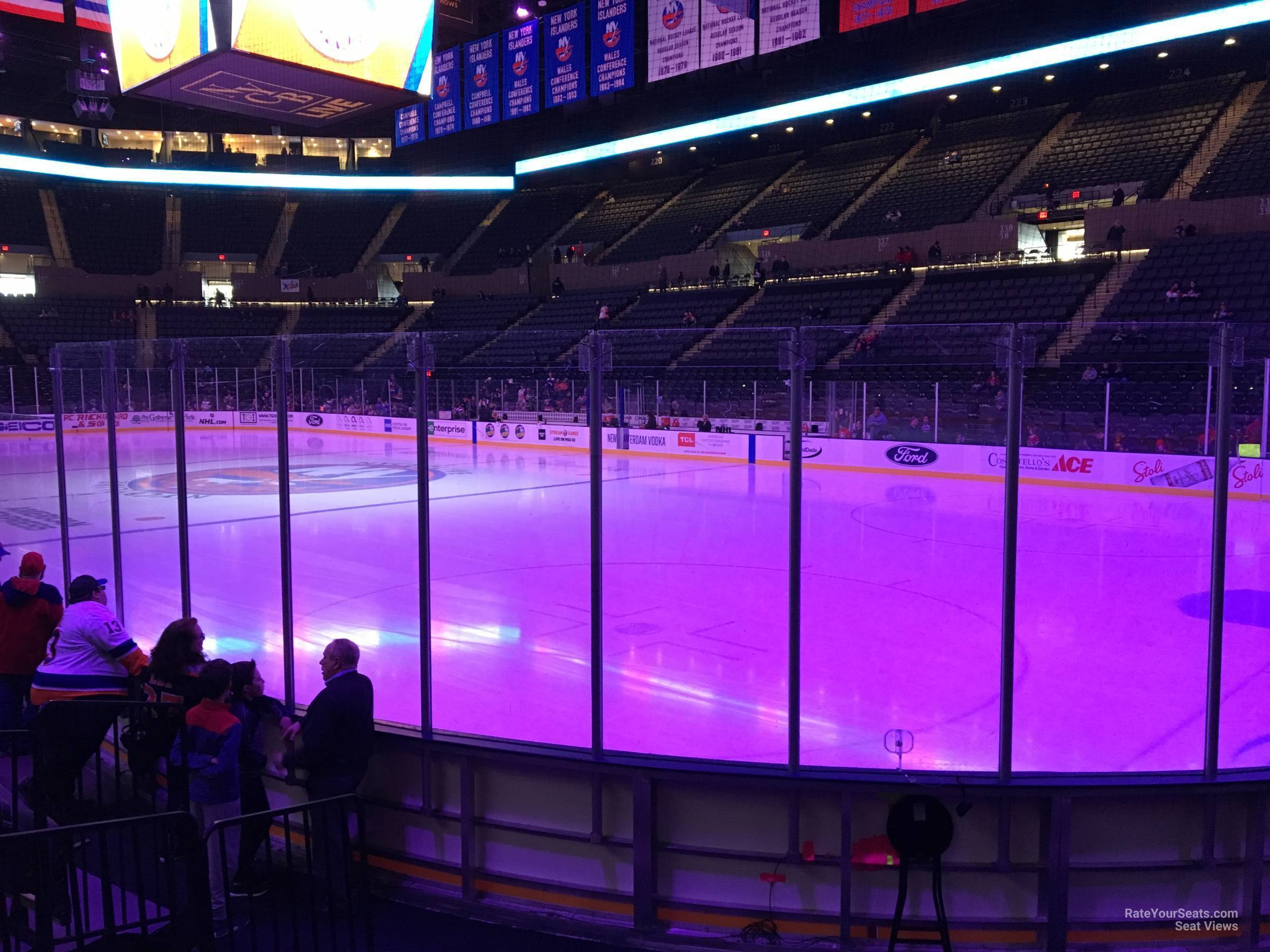 Seat View for Nassau Coliseum Section 27, Row 5